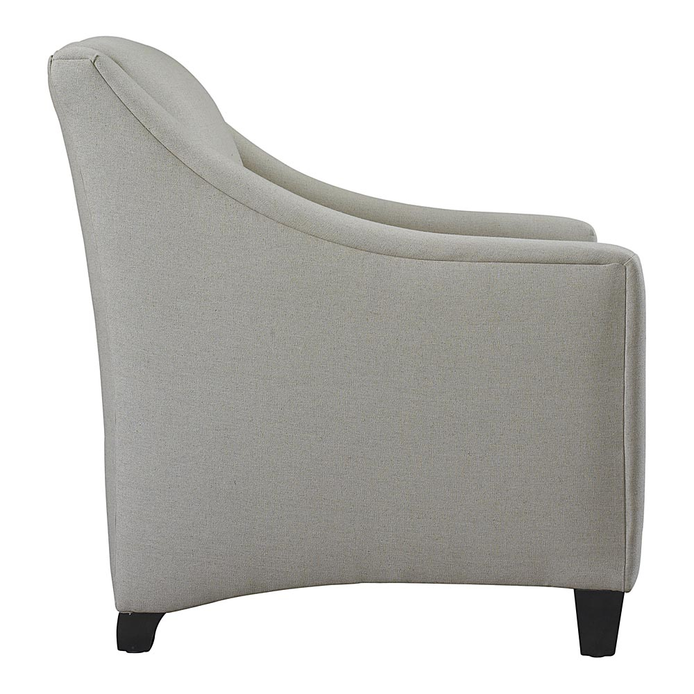 Corinna Upholstered Accent Chair | Bassett Furniture Throughout Harbor Grey Swivel Accent Chairs (Image 8 of 20)