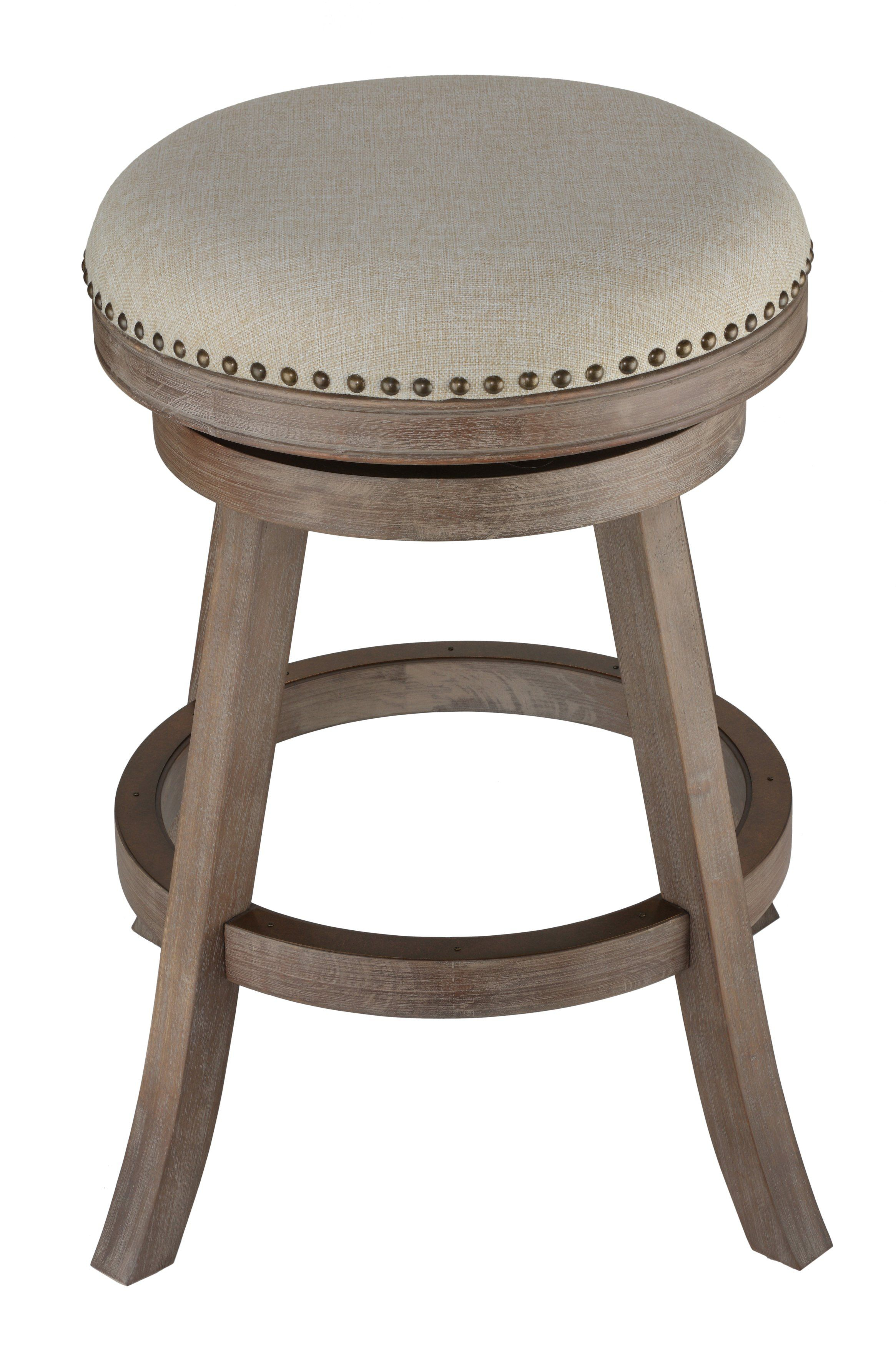 Cortesi Home Sadie Backless Swivel Counter Stool In Solid Wood In Sadie Ii Swivel Accent Chairs (View 10 of 20)
