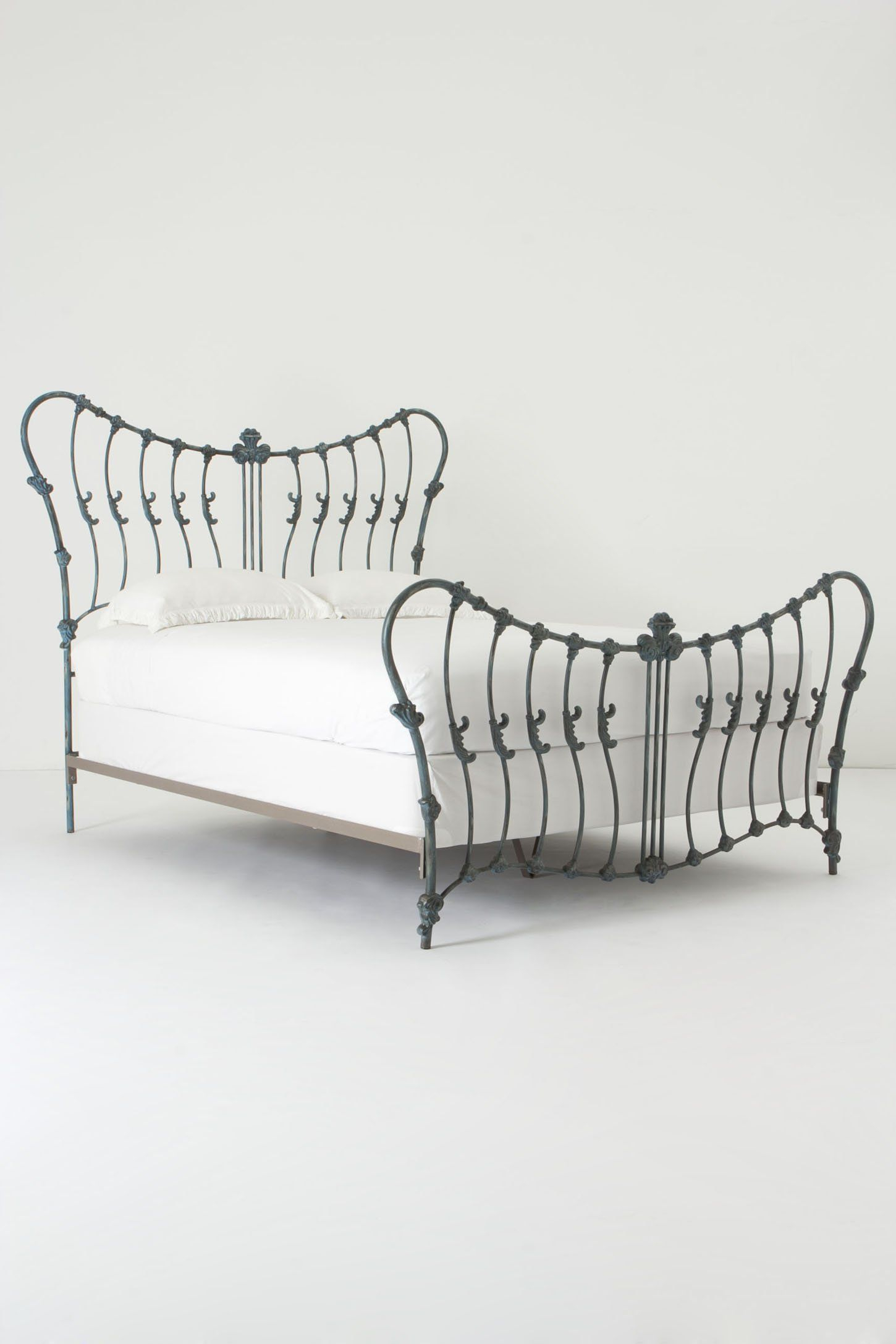 Cosette Bed | Furniture | Pinterest | Anthropologie, Slate And Iron Regarding Cosette Leather Sofa Chairs (View 16 of 20)