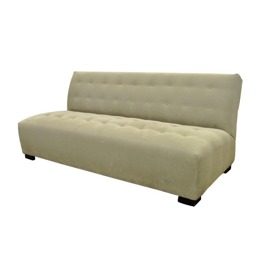 Crate & Barrel Mitchell Gold Modern Plus Armless Sofa Loveseat Couch For Mitchell Arm Sofa Chairs (Image 5 of 20)