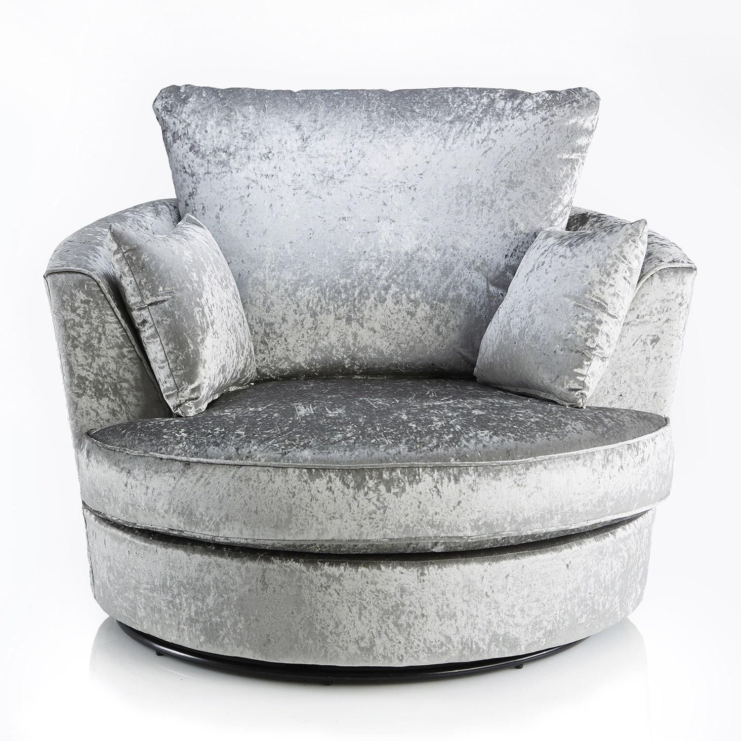 Crushed Velvet Furniture | Sofas, Beds, Chairs, Cushions Intended For Grey Swivel Chairs (Image 3 of 20)