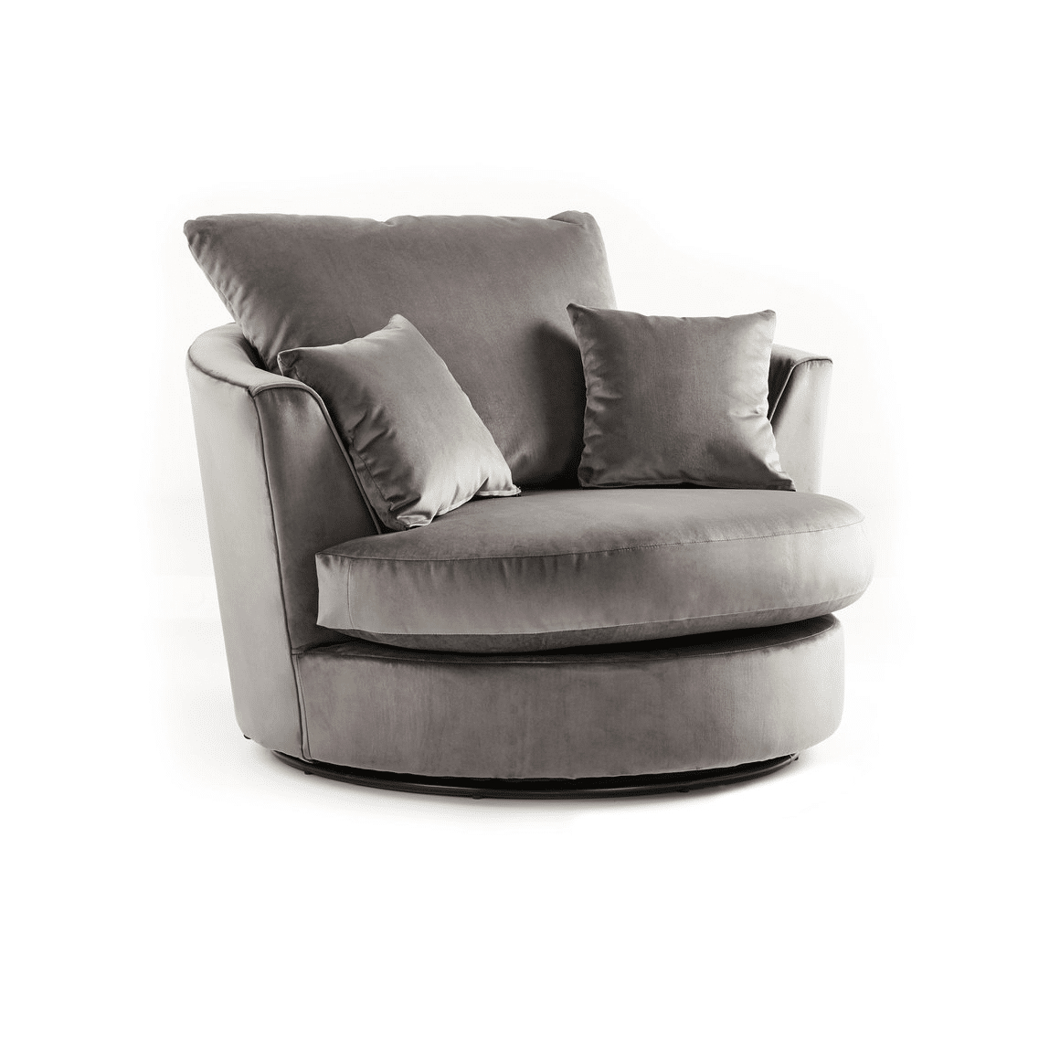 Crushed Velvet Furniture | Sofas, Beds, Chairs, Cushions Regarding Charcoal Swivel Chairs (Image 10 of 20)