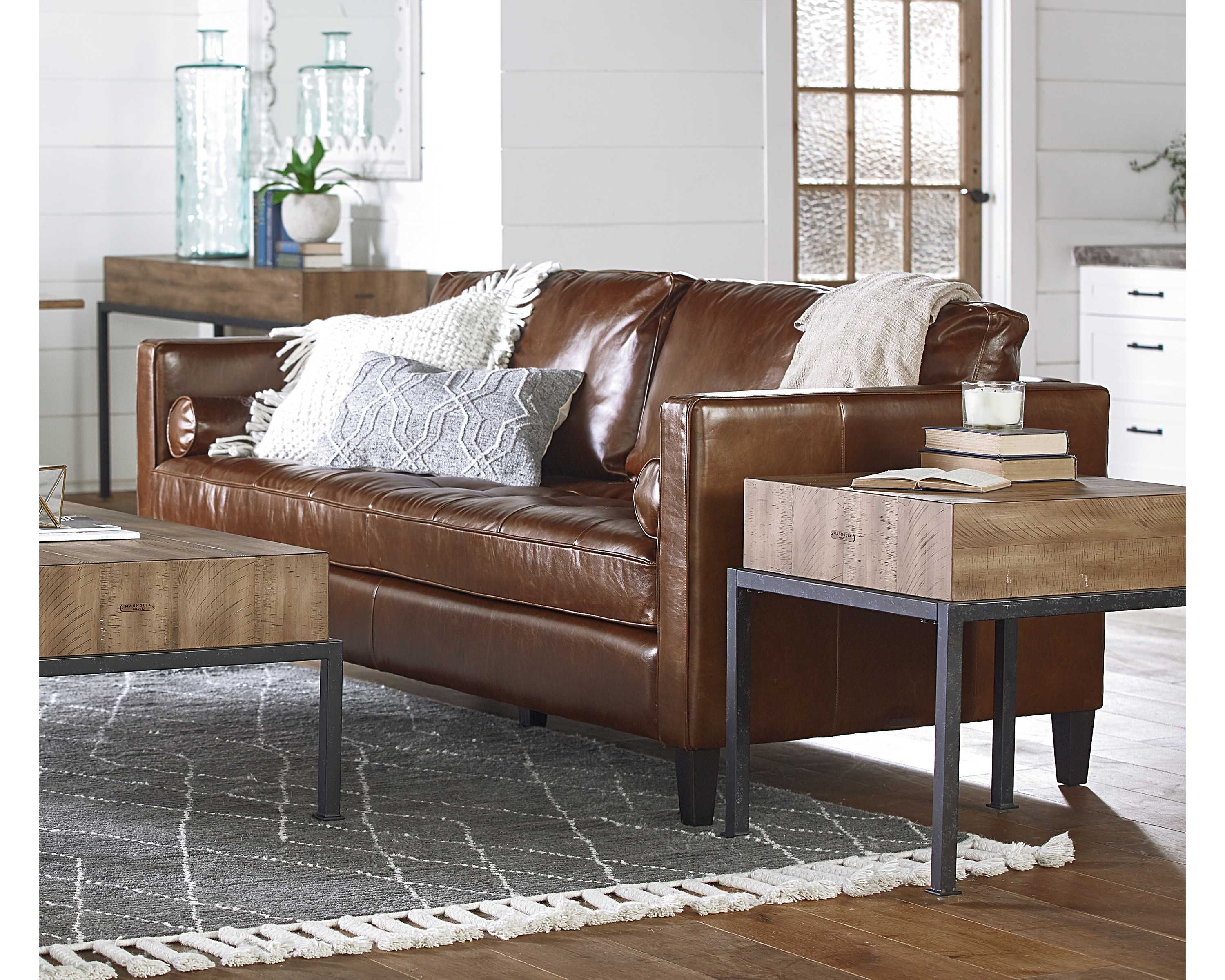 Dapper Sofa – Magnolia Home Inside Magnolia Home Dapper Fog Sofa Chairs (View 7 of 20)