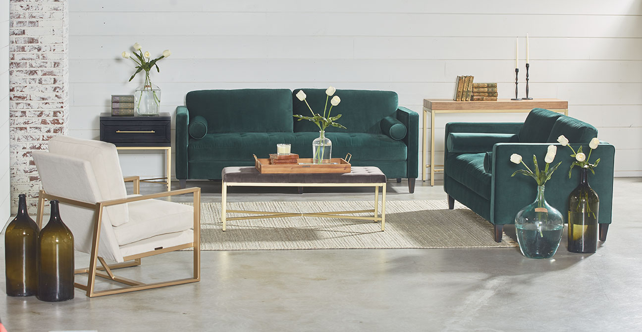Dapper Sofa – Magnolia Home Throughout Magnolia Home Dapper Fog Sofa Chairs (View 14 of 20)