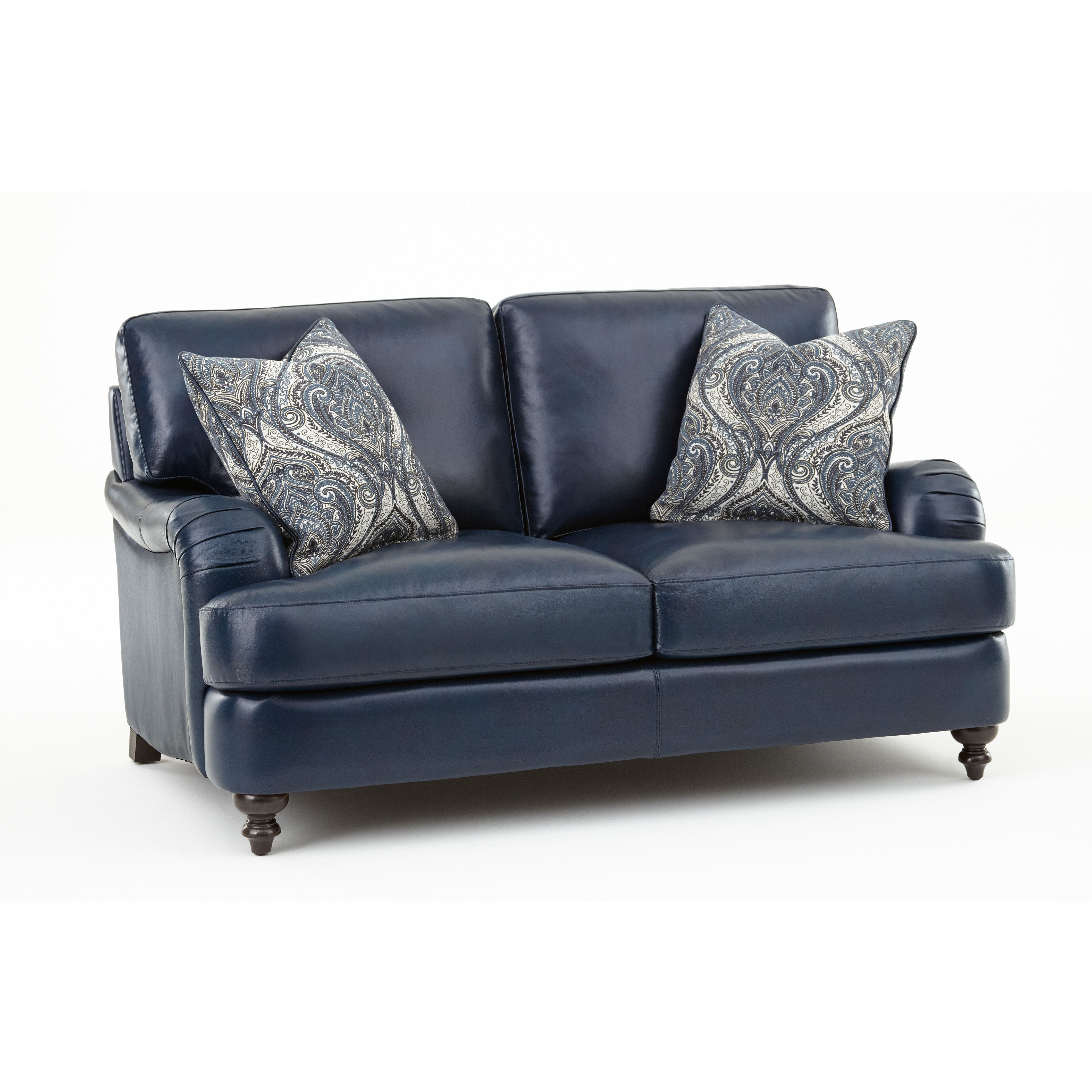 Darby Home Co Marissa Leather Loveseat | Wayfair | Furniture Ideas Within Marissa Sofa Chairs (Image 2 of 20)