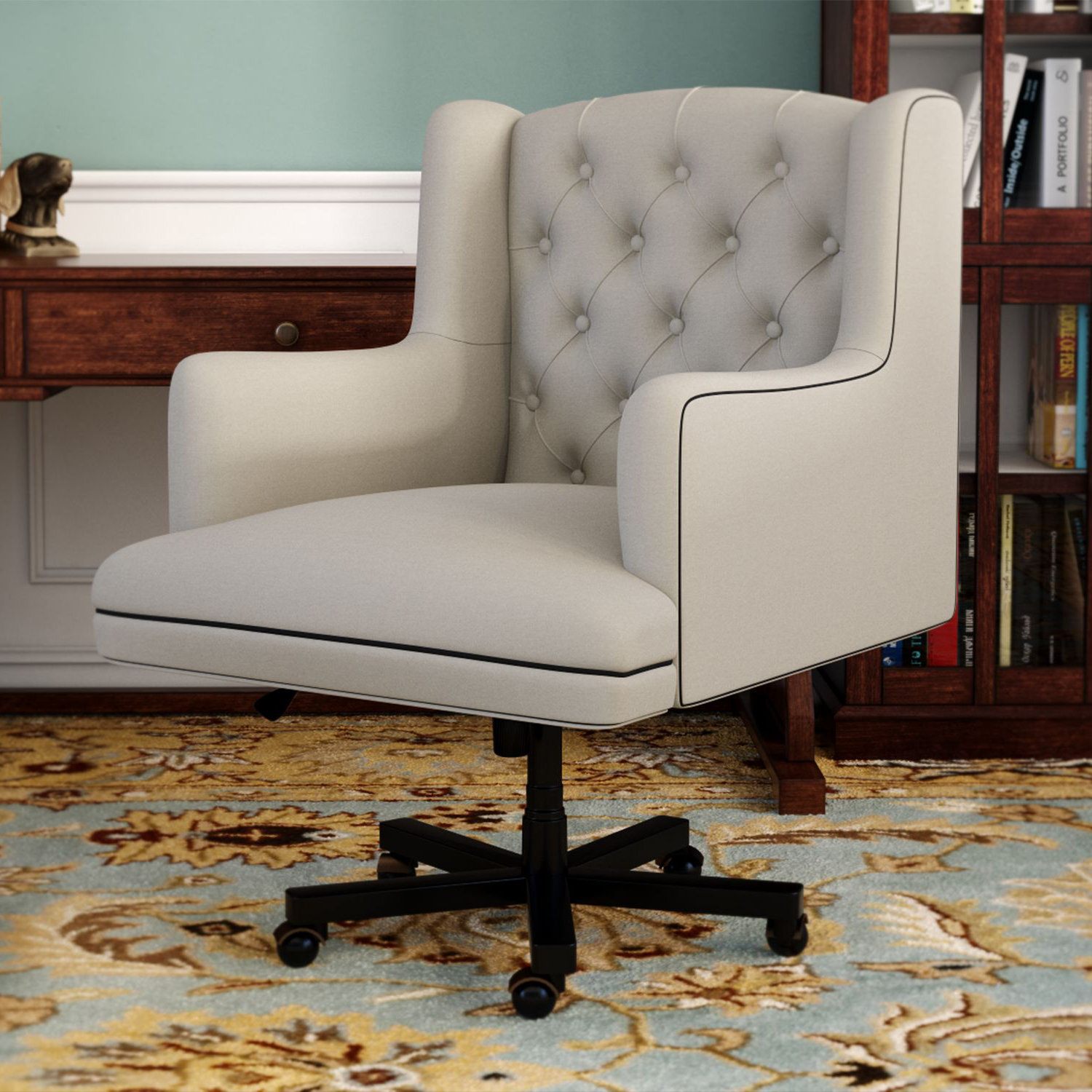Darby Home Co Nichols Desk Chair & Reviews | Wayfair With Regard To Nichol Swivel Accent Chairs (Image 3 of 20)