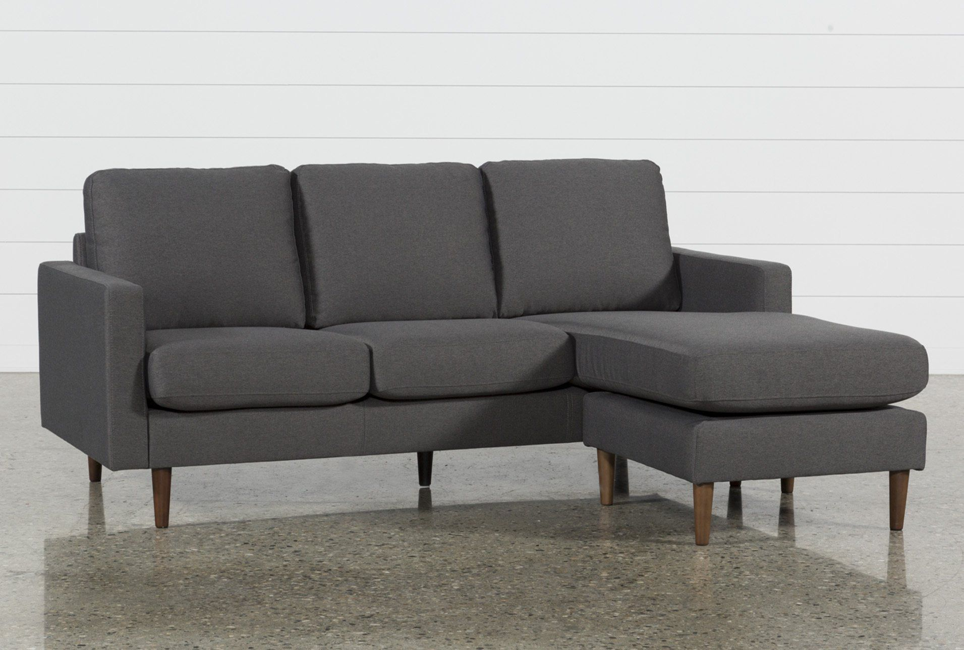 David Dark Grey Reversible Sofa Chaise | Dark Grey And Products Within Mcdade Graphite Sofa Chairs (Image 4 of 20)