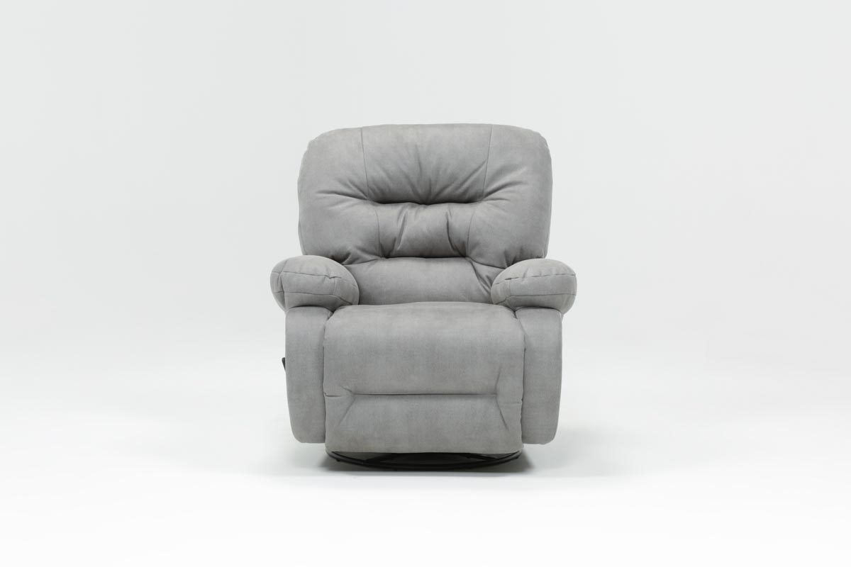 Decker Ii Fabric Swivel Glider Recliner | Living Spaces For Decker Ii Fabric Swivel Rocker Recliners (Image 5 of 20)