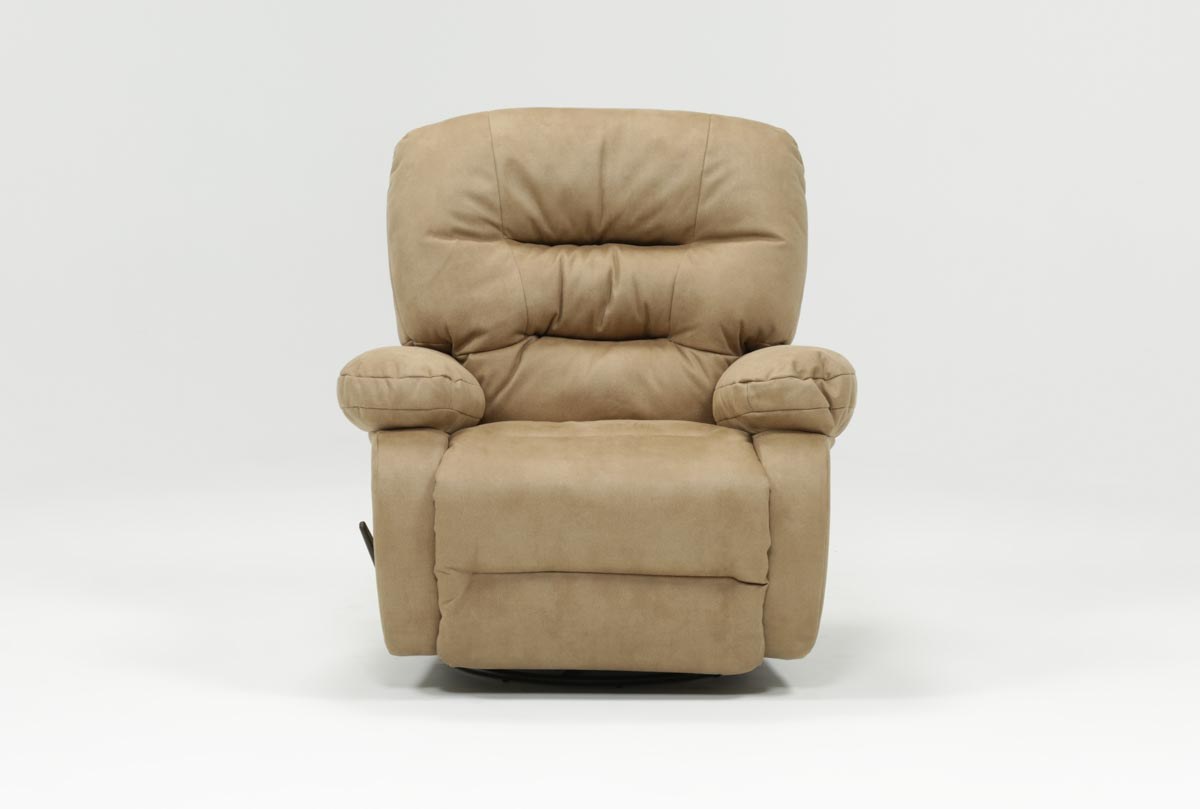 Decker Ii Fabric Swivel Rocker Recliner | Living Spaces Within Franco Iii Fabric Swivel Rocker Recliners (View 2 of 20)