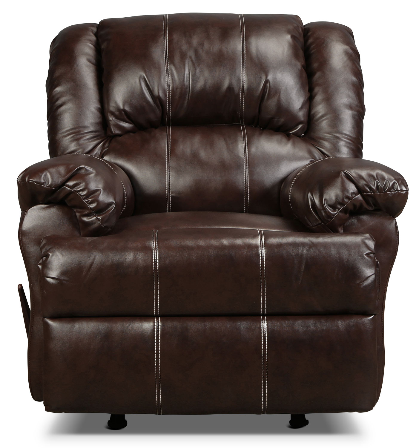 Decker Recliner – Brown | In Decker Ii Fabric Swivel Glider Recliners (Image 4 of 20)
