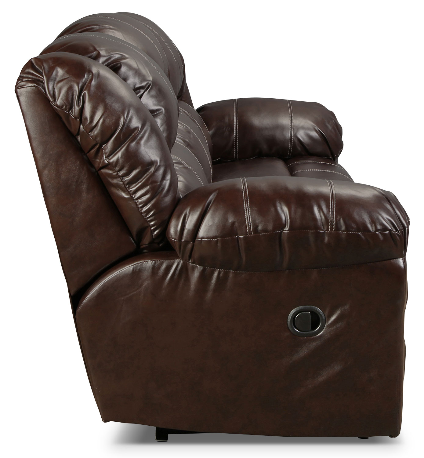 Decker Reclining Sofa – Brown | Regarding Decker Ii Fabric Swivel Rocker Recliners (Image 6 of 20)