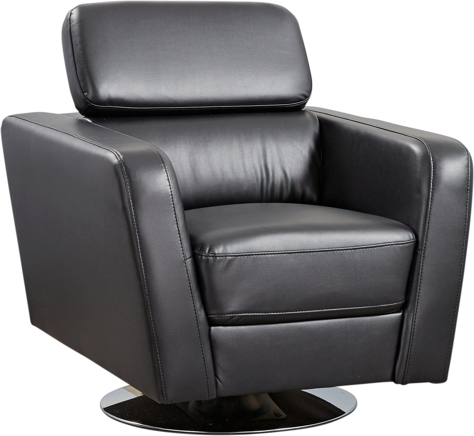 Dellinger Black Swivel Chair – Accent Chairs (Black) Regarding Leather Black Swivel Chairs (Image 6 of 20)