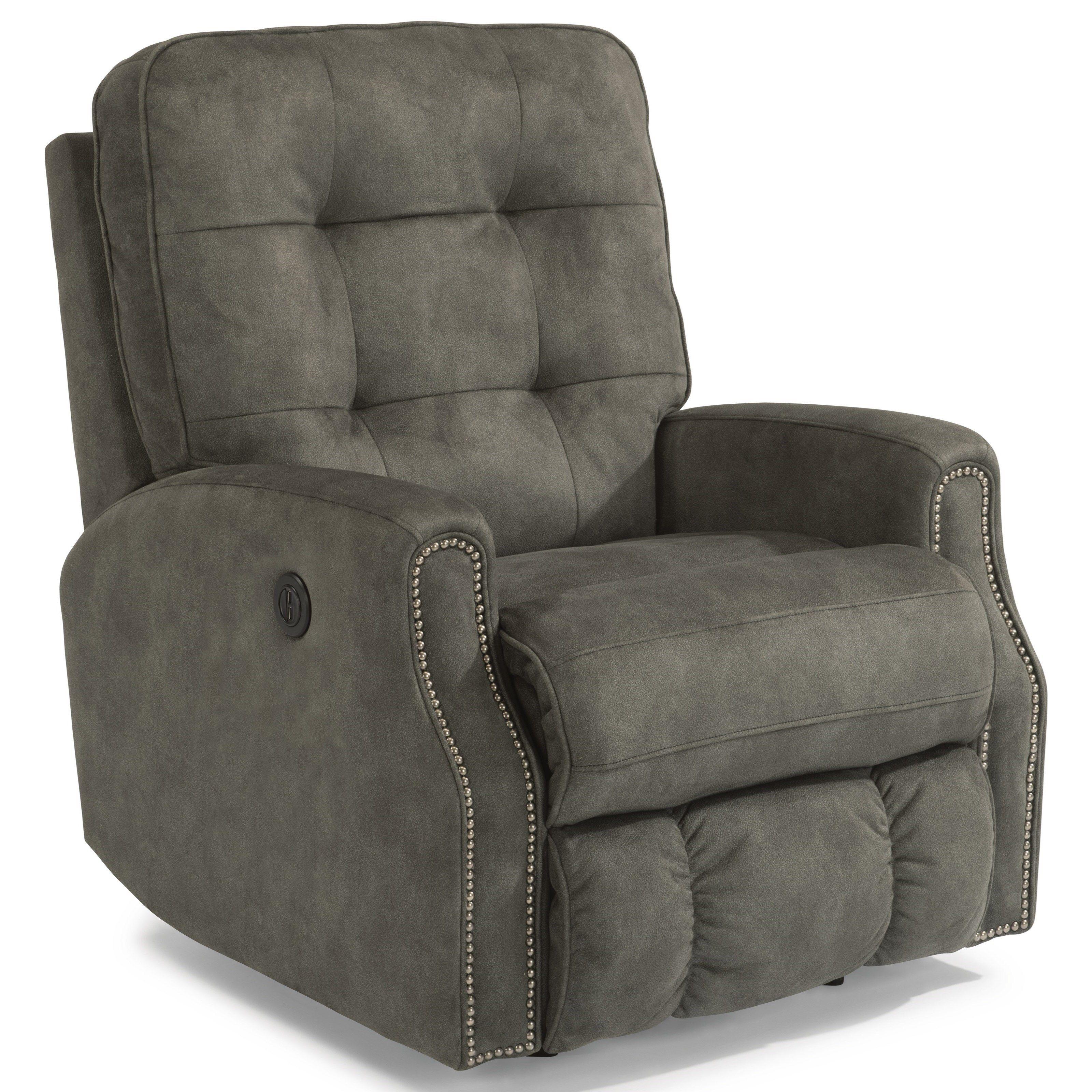 Devon Power Rocker Recliner W/ Nailheadsflexsteel | Furniture Within Devon Ii Swivel Accent Chairs (Image 6 of 20)
