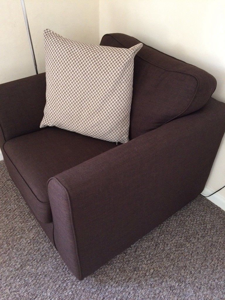 Dfs Brown Arm Chair, Only A Year Old And Never Really Been Used Regarding Devon Ii Arm Sofa Chairs (Image 8 of 20)