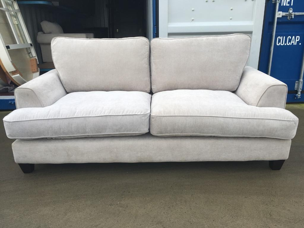 Dfs Tate Beige Fabric 3 Seater Sofa (Ex Display ) | In Lincoln With Regard To Tate Ii Sofa Chairs (Image 2 of 20)