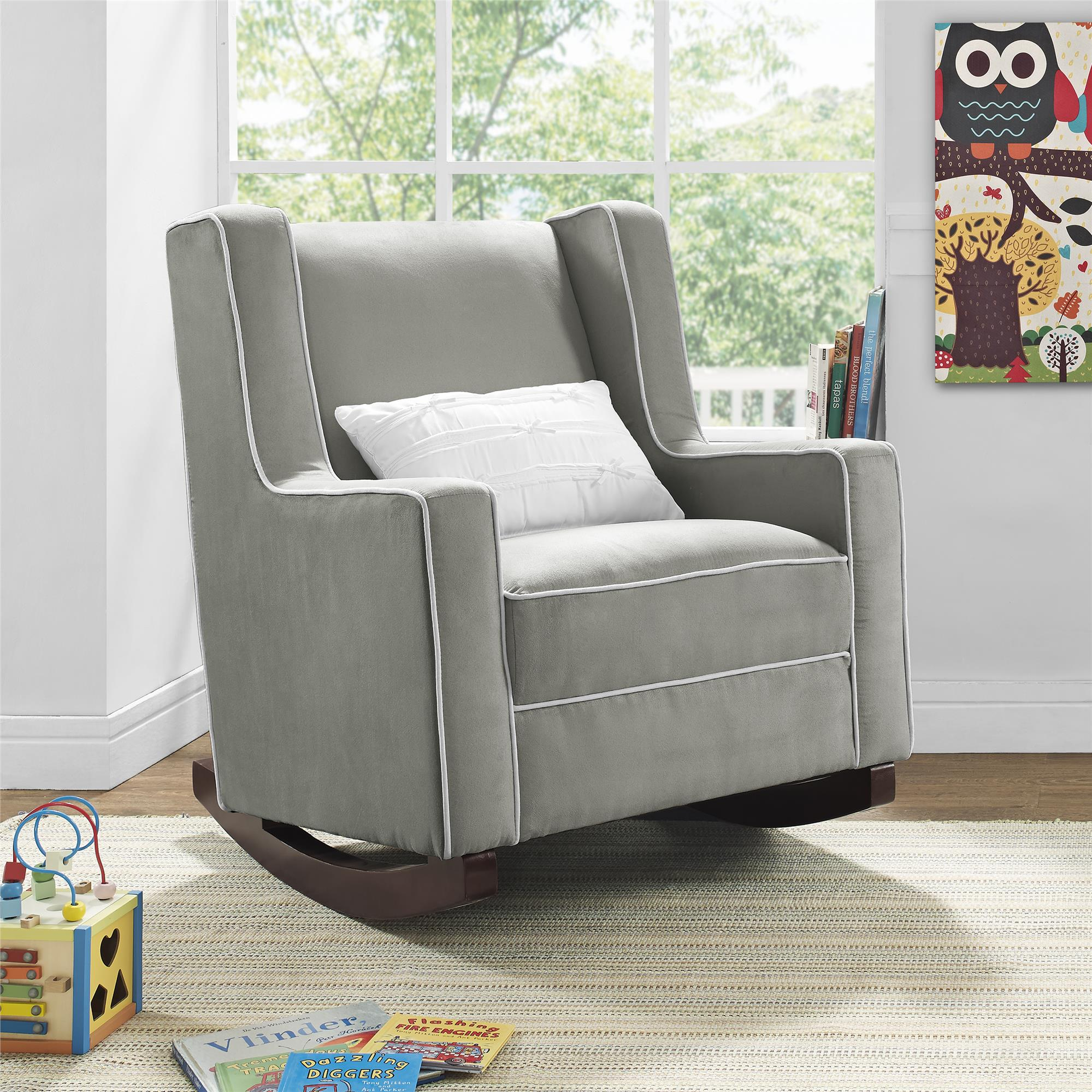 Dorel Living | Baby Relax Abby Rocker, Gray With Regard To Abbey Swivel Glider Recliners (View 2 of 20)