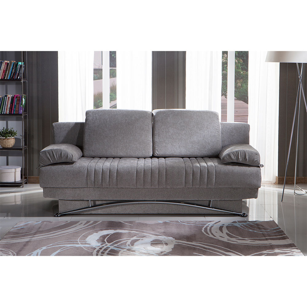 Dream Queen Sofa Sleeperital Contempo(Dark Grey, Light Grey Intended For Allie Dark Grey Sofa Chairs (Photo 17 of 20)