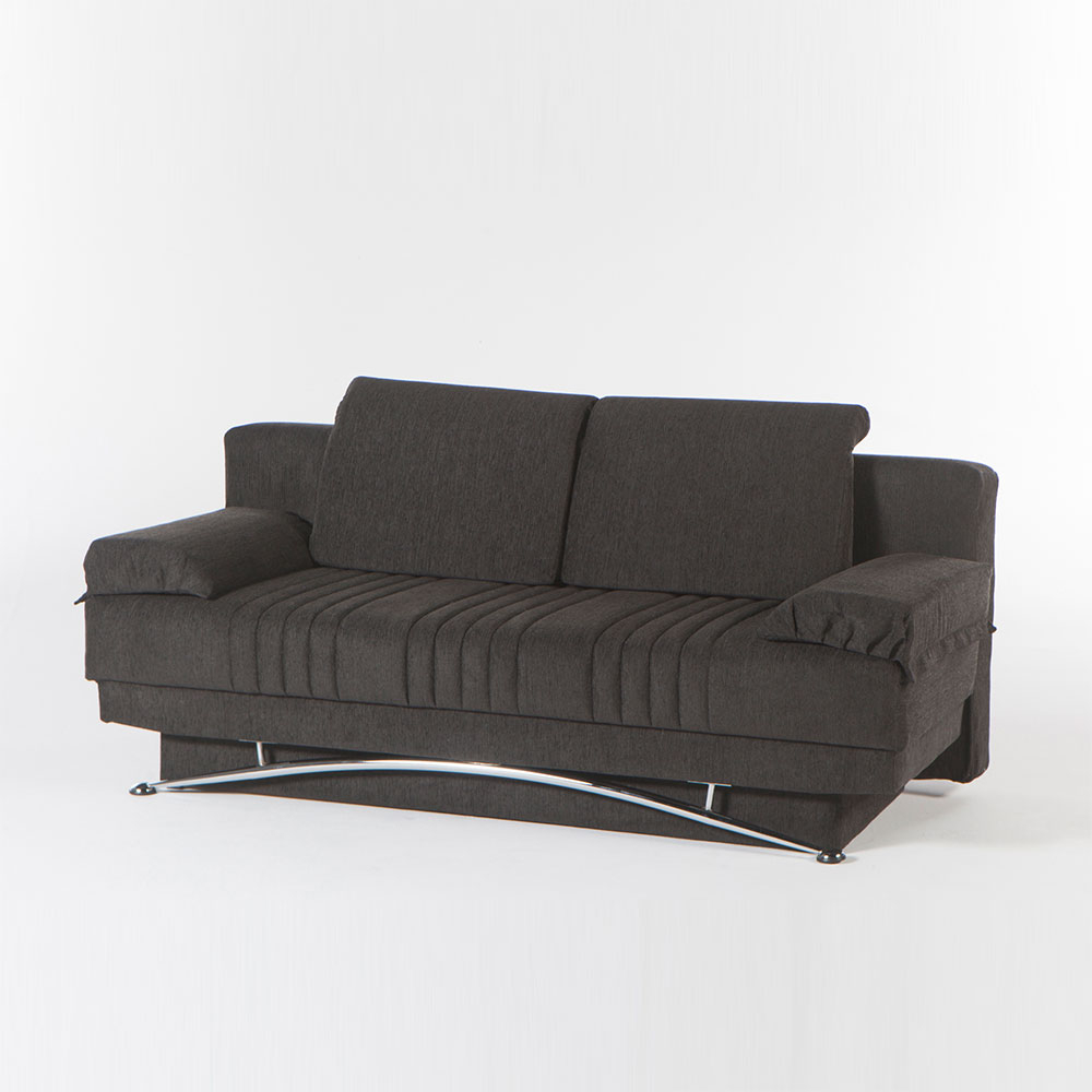 Dream Queen Sofa Sleeperital Contempo(Dark Grey, Light Grey With Regard To Allie Dark Grey Sofa Chairs (Image 11 of 20)