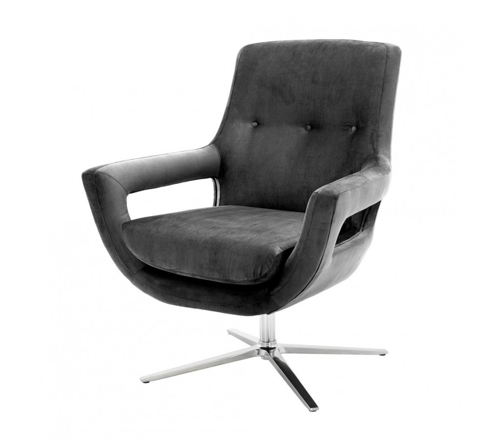 Eichholtz Flavio Swivel Chair | Eichholtz Armchair – Design Icons Pertaining To Grey Swivel Chairs (Image 4 of 20)