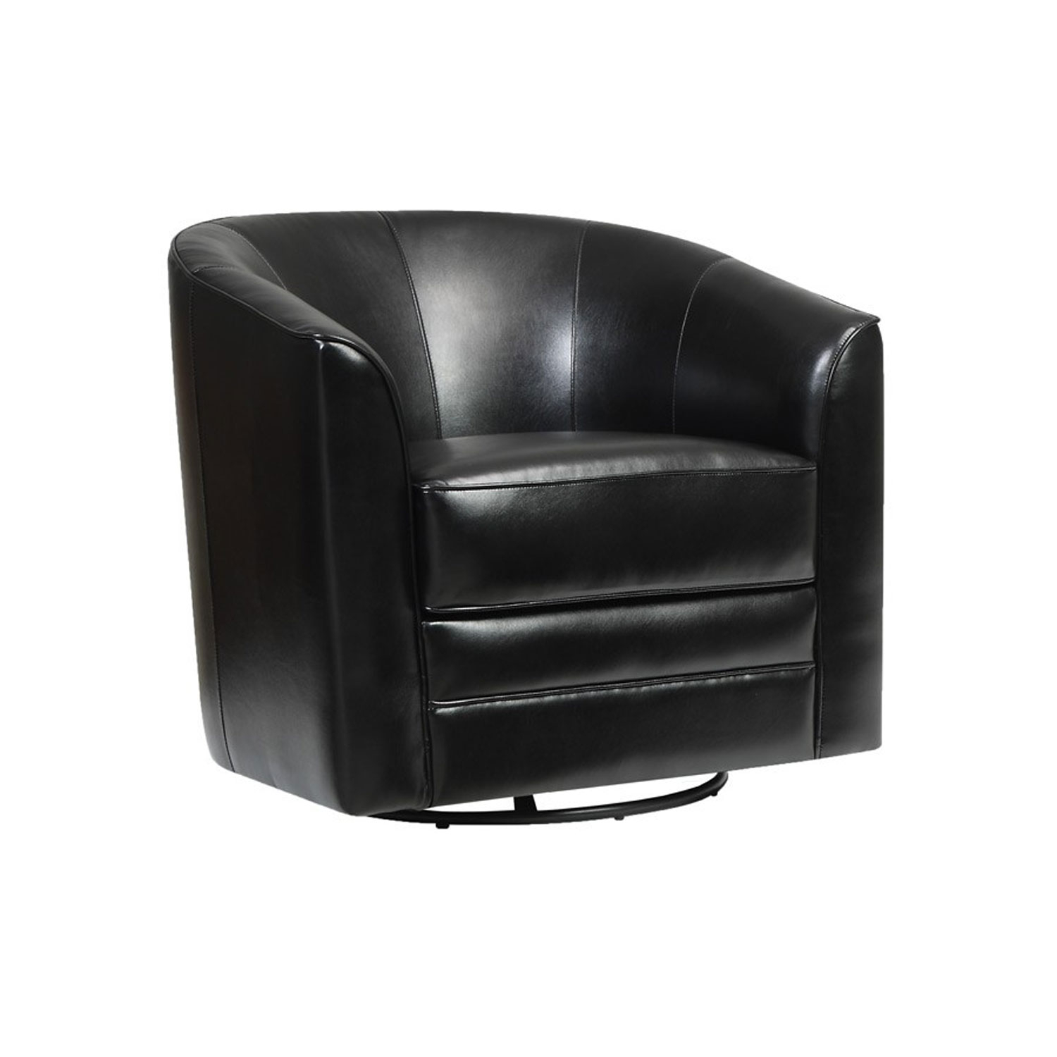 Emerald Home Furnishings Milo Swivel Chair Black U5029C 04 16 | Bellacor For Swivel Tobacco Leather Chairs (Image 5 of 20)