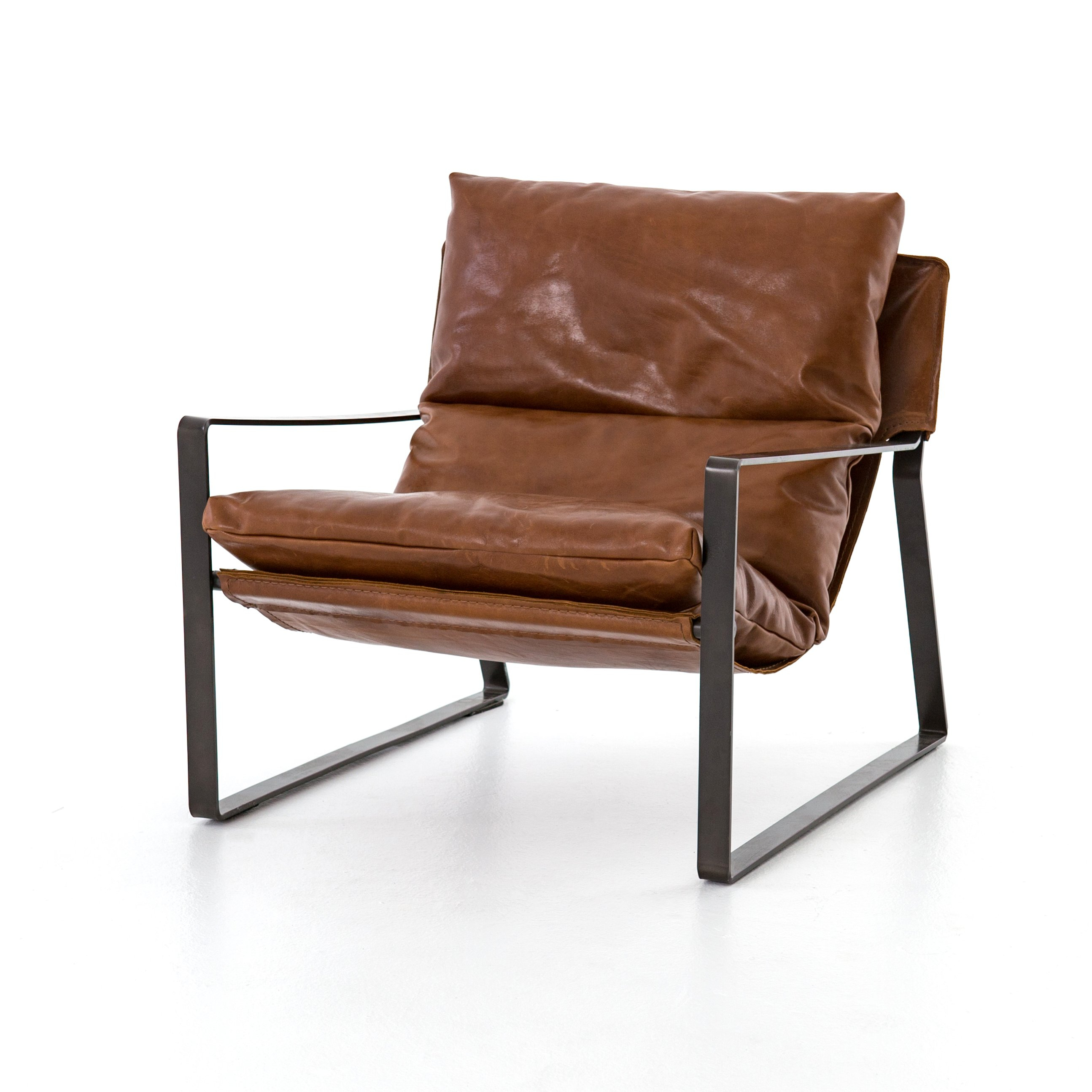 Emmett Sling Chair  Dakota Tobacco In 2018 | Tv Room | Pinterest Pertaining To Swivel Tobacco Leather Chairs (Image 6 of 20)