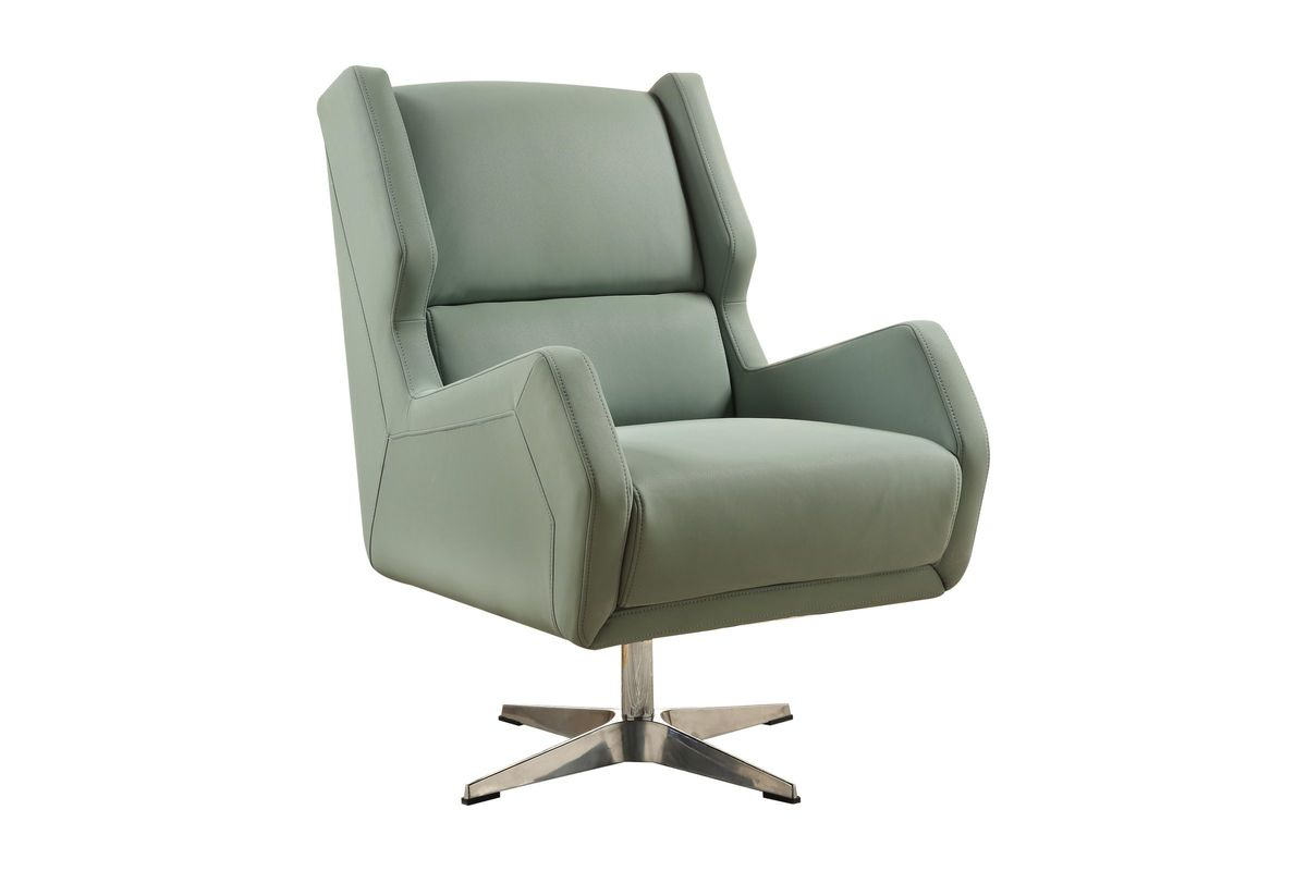 Eudora Ii Accent Chair In Grey Stoneacme At Gardner White For Amari Swivel Accent Chairs (View 8 of 20)