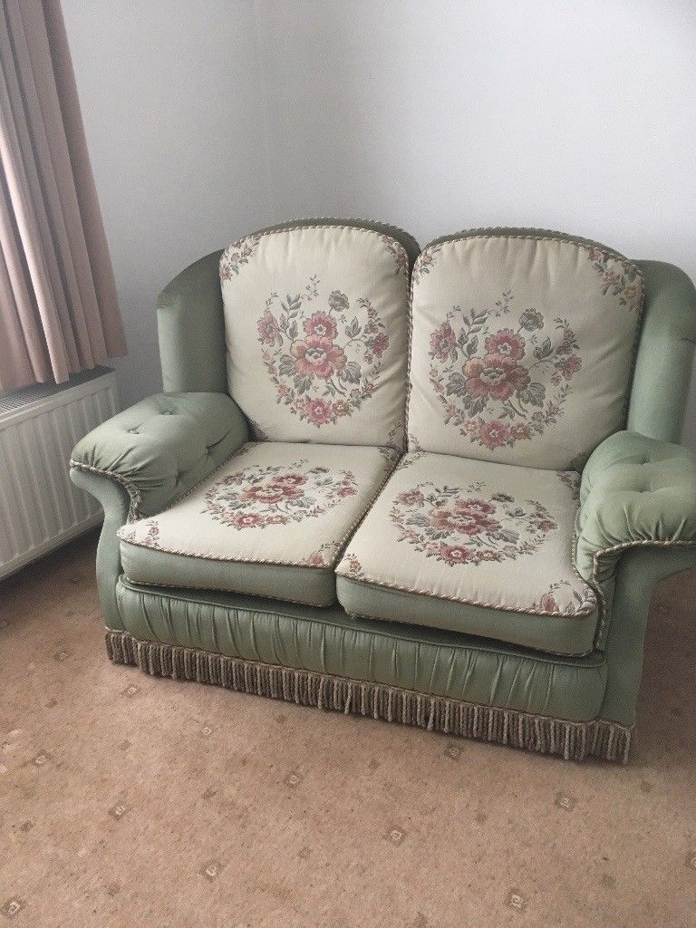 "Excellent Condition. ""abigail"" Two Seater Sofa In Embassy Sage Throughout Abigail Ii Sofa Chairs (Photo 14 of 20)"