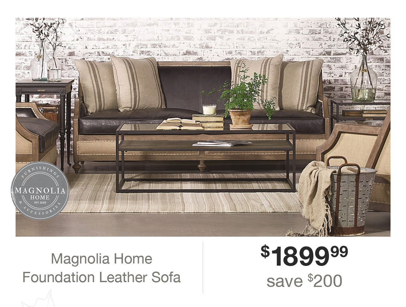 Expired Email: Hi Angela, Click Here To Make Your Home A Magnolia Intended For Magnolia Home Foundation Leather Sofa Chairs (Image 2 of 20)