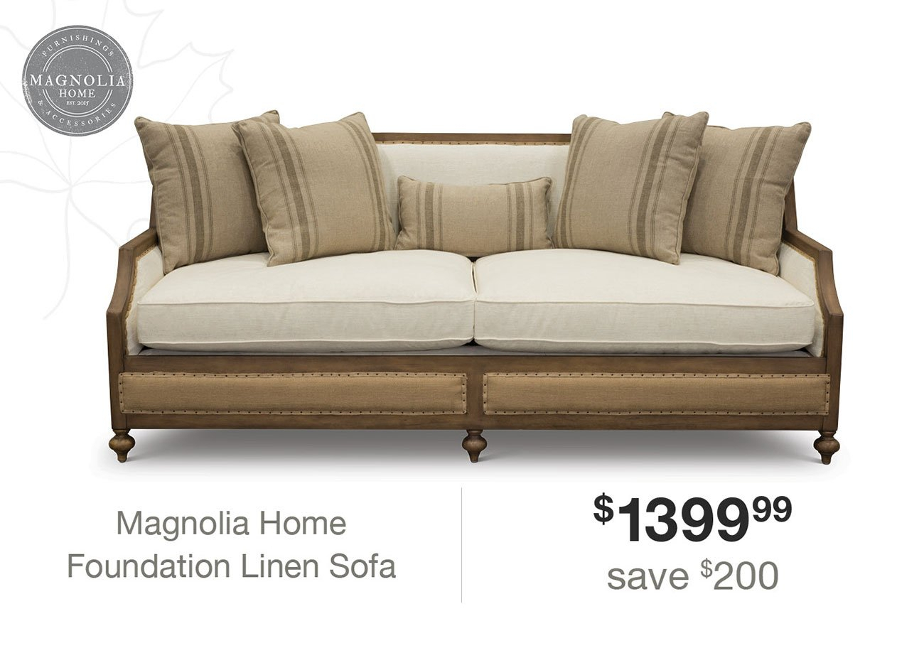 Expired Email: Hi Angela, Click Here To Make Your Home A Magnolia Regarding Magnolia Home Foundation Leather Sofa Chairs (Image 3 of 20)