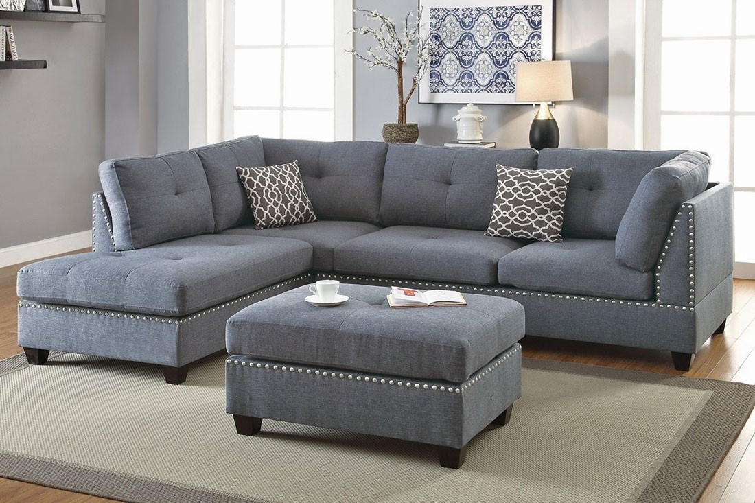 Fabric Sectional Sofa In Grey Shop For Affordable Home Furniture Pertaining To Mcdade Graphite Sofa Chairs (Image 6 of 20)