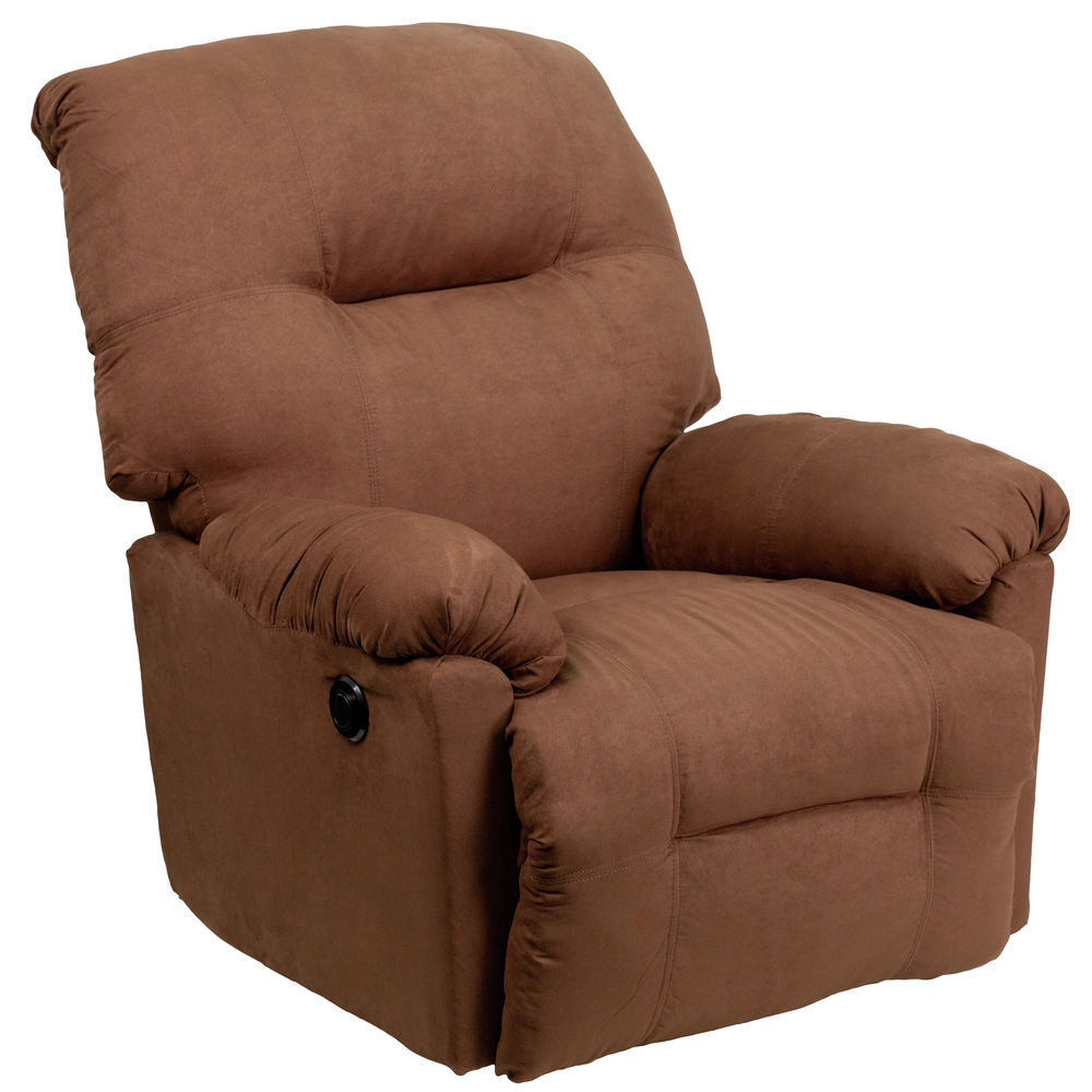 Flash Furniture Chocolate Mic Power Recliner With Hercules Chocolate Swivel Glider Recliners (View 11 of 20)
