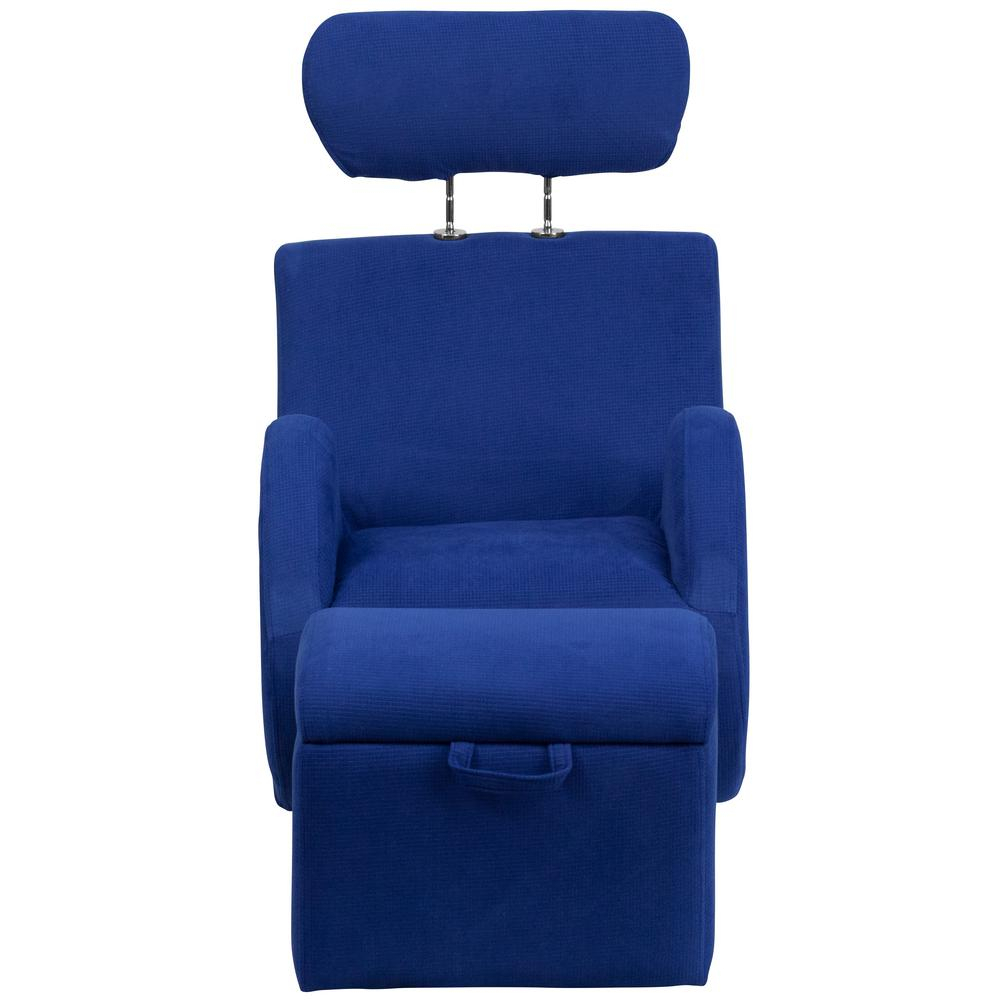 Flash Furniture Hercules Series Blue Fabric Rocking Chair With For Hercules Grey Swivel Glider Recliners (Photo 7 of 20)