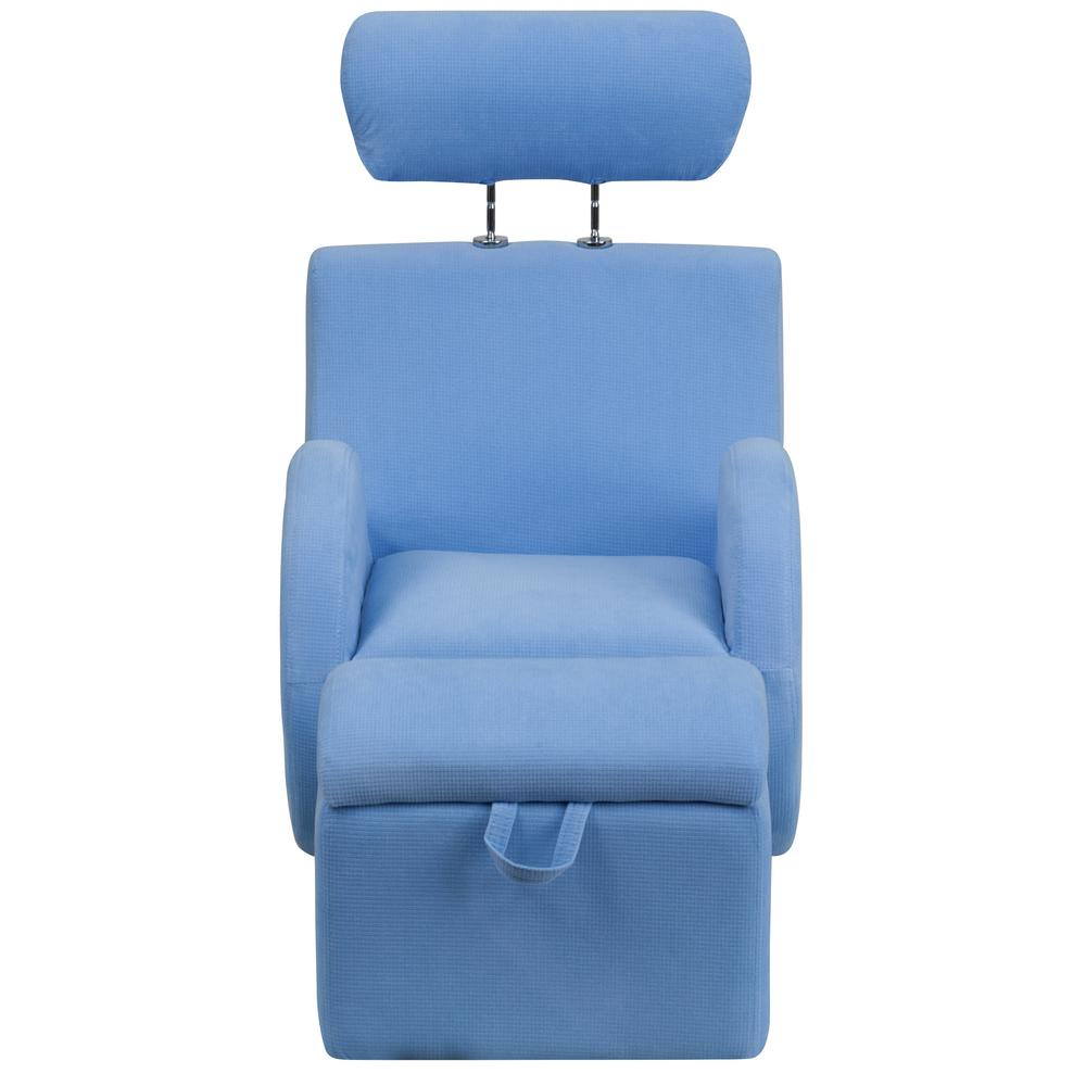 Flash Furniture Hercules Series Light Blue Fabric Rocking Chair With Regarding Hercules Grey Swivel Glider Recliners (Photo 8 of 20)