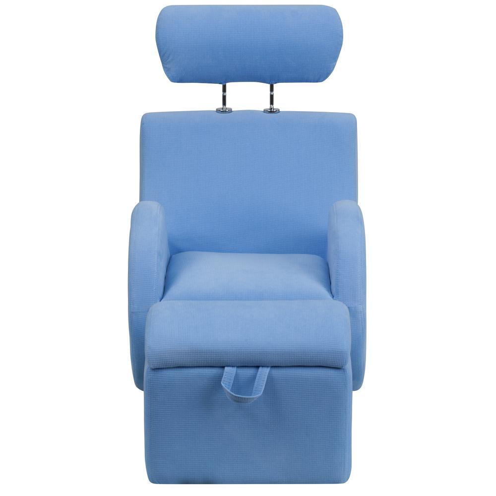 Flash Furniture Hercules Series Light Blue Fabric Rocking Chair With Regarding Hercules Grey Swivel Glider Recliners (Image 4 of 20)