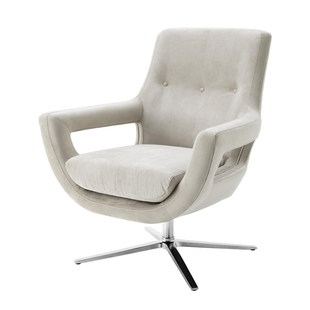 Flavio Pebble Grey Swivel Chair | Shop Now Regarding Grey Swivel Chairs (Image 5 of 20)