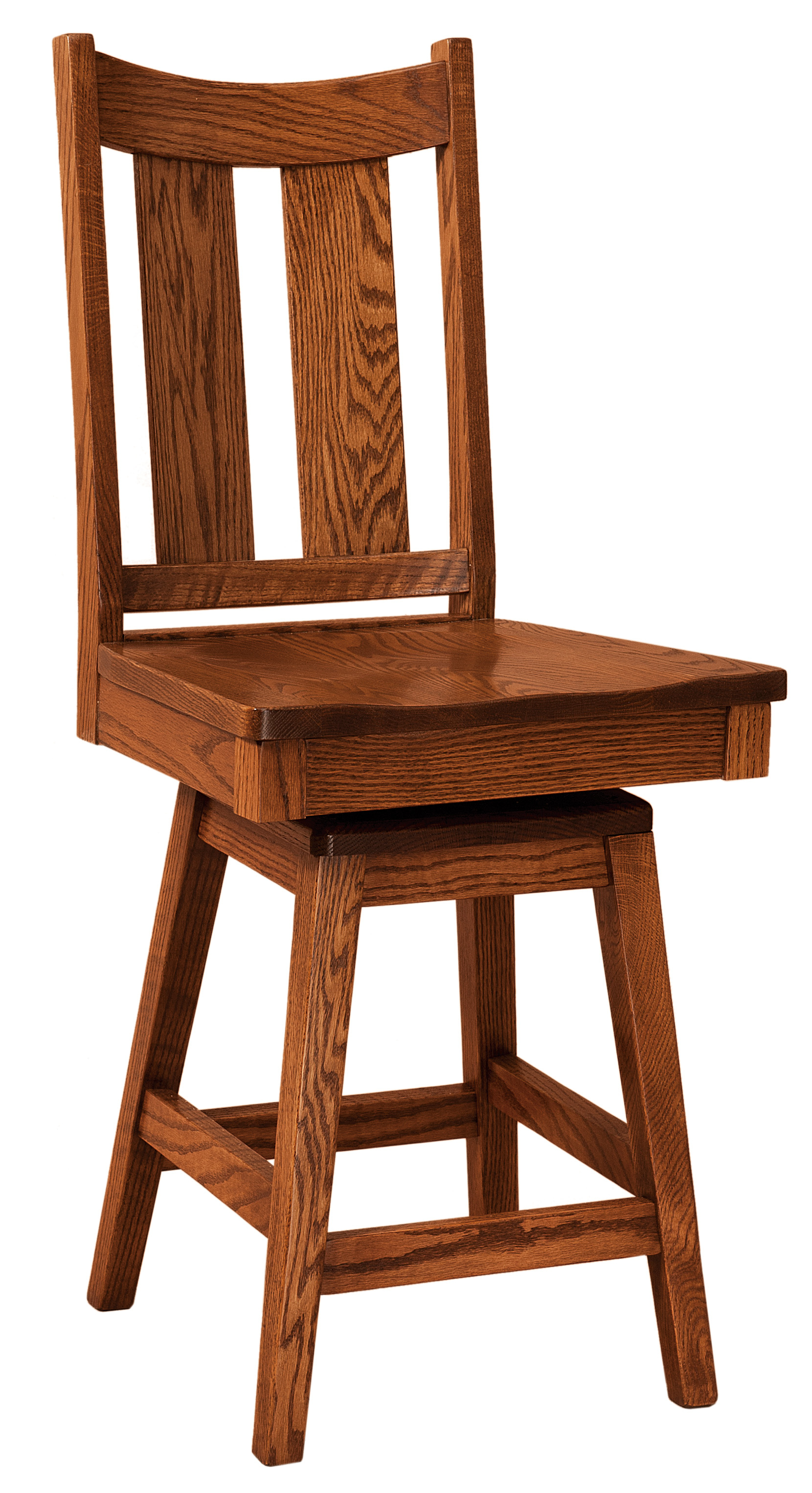F&n Woodworking Aspen Swivel Bar Stool Within Aspen Swivel Chairs (Image 10 of 20)