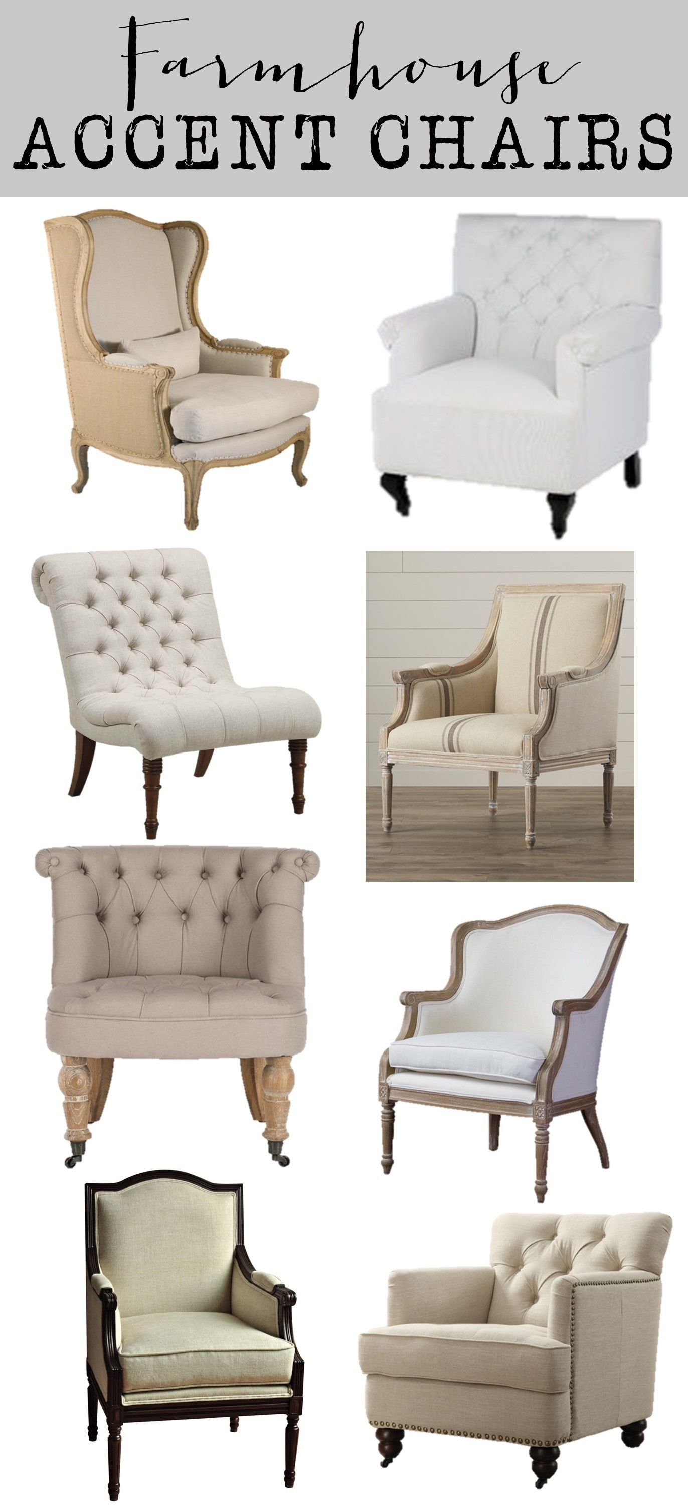 Friday Favorites: Farmhouse Accent Chairs – House Of Hargrove In Nichol Swivel Accent Chairs (Image 5 of 20)
