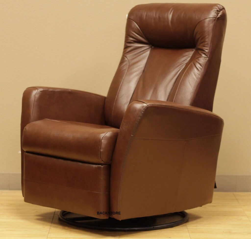 Furniture: Cheap High Back Brown Leather Rocker Recliner Swivel With Regard To Espresso Leather Swivel Chairs (Photo 7 of 20)