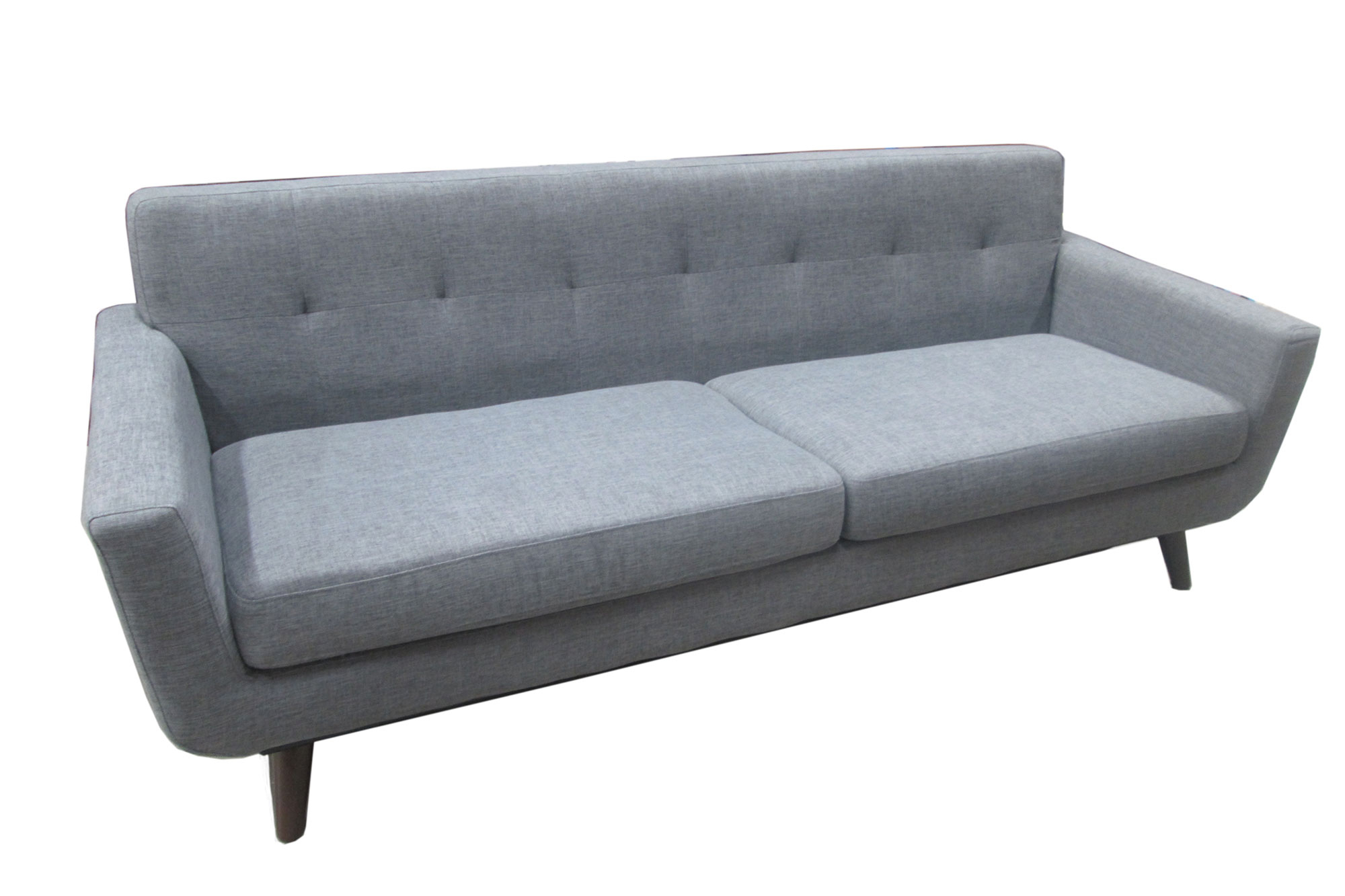 Furniture Iso Mid Century Milo Sofa Grey – Metroconnections Intended For Milo Sofa Chairs (View 13 of 20)