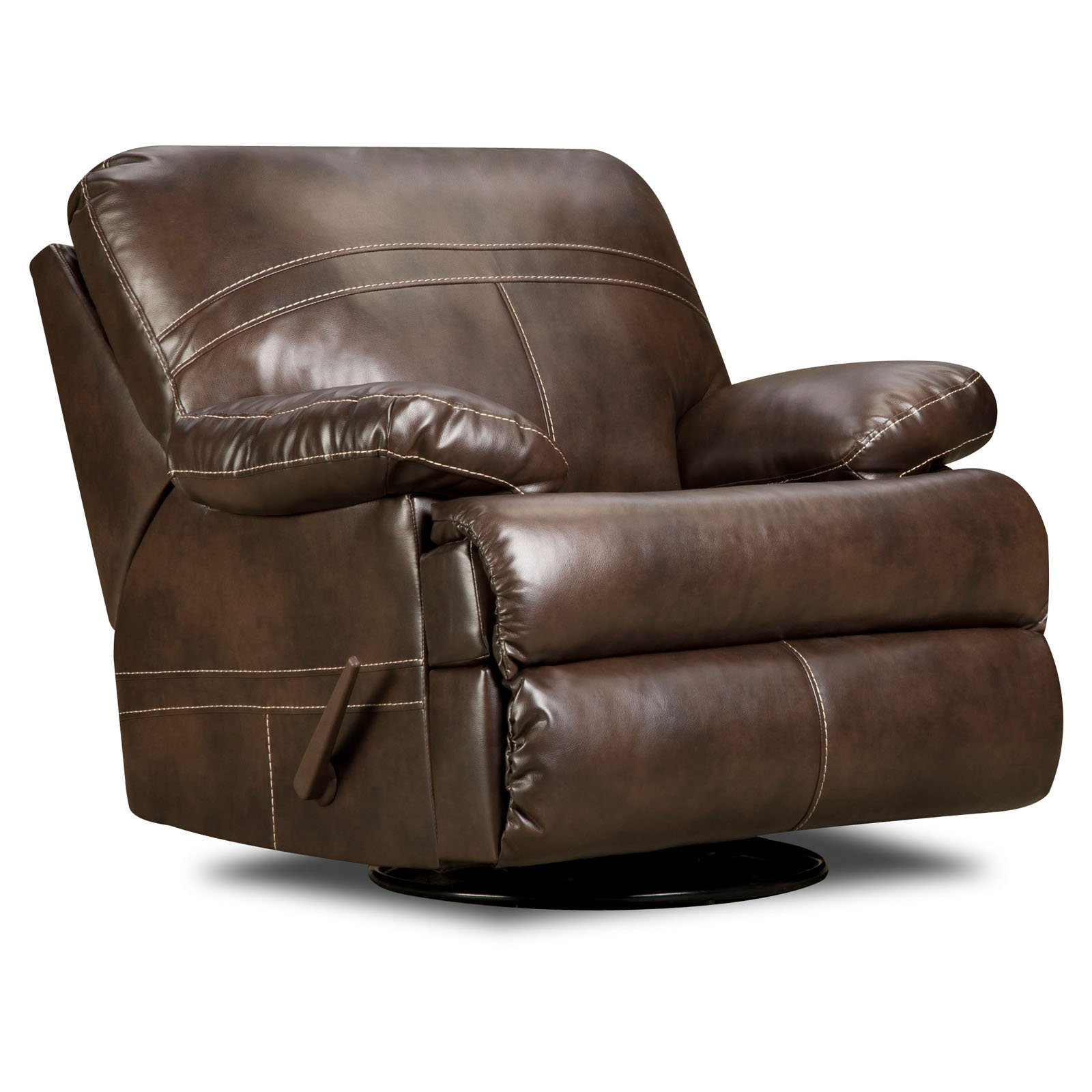 Furniture: Surprising Simmons Recliners For Contemporary Living Room For Rogan Leather Cafe Latte Swivel Glider Recliners (Image 6 of 20)
