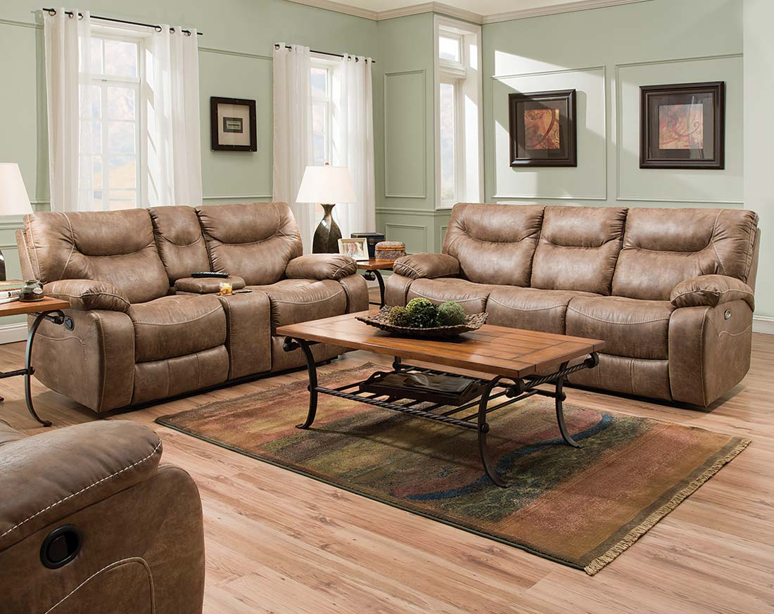 Furniture: Surprising Simmons Recliners For Contemporary Living Room Throughout Rogan Leather Cafe Latte Swivel Glider Recliners (Photo 6 of 20)