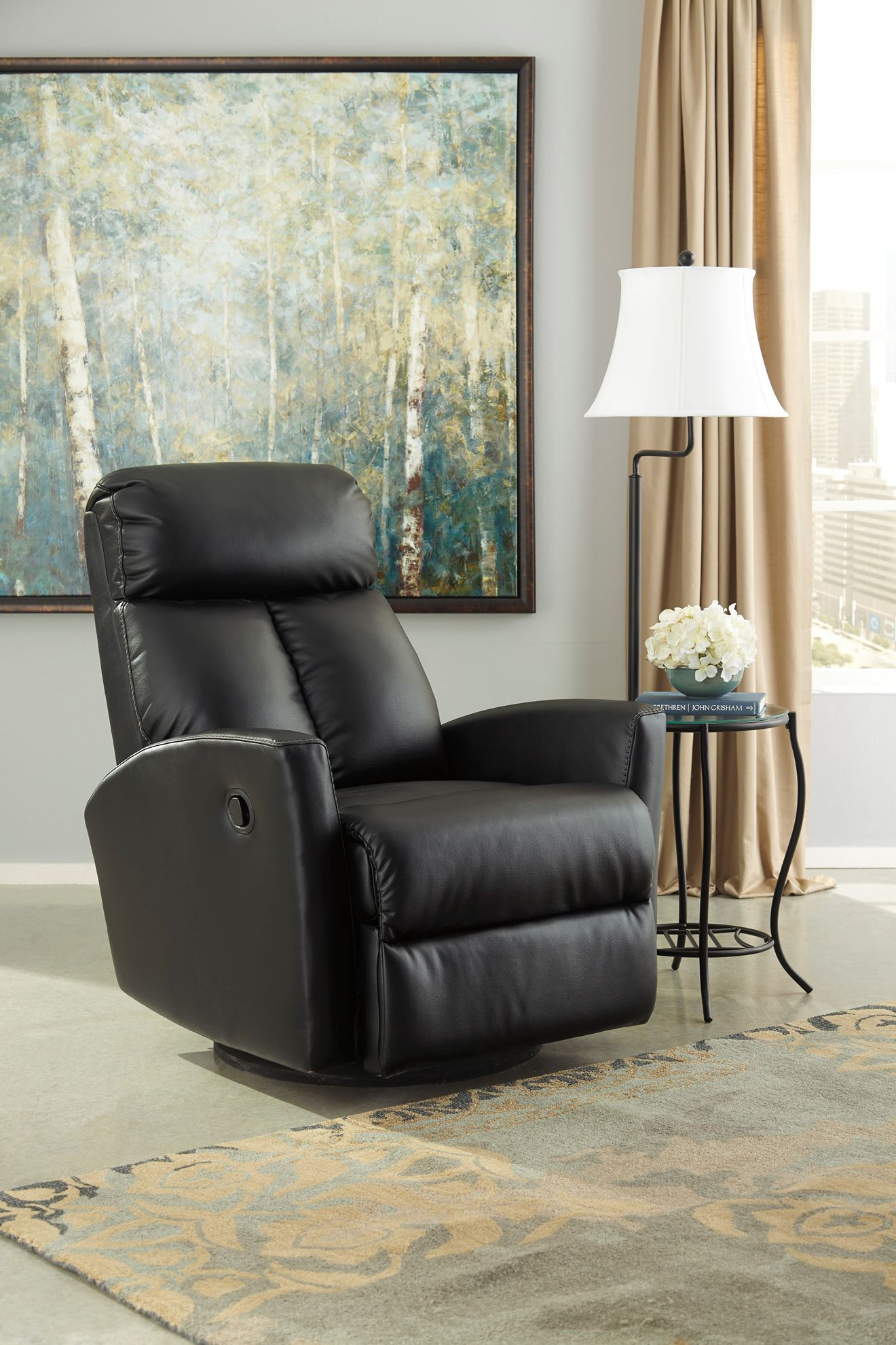 Furniture: Swivel Glider Recliner Is Perfect For Any Nursery Or Inside Dale Iii Polyurethane Swivel Glider Recliners (Photo 16 of 20)