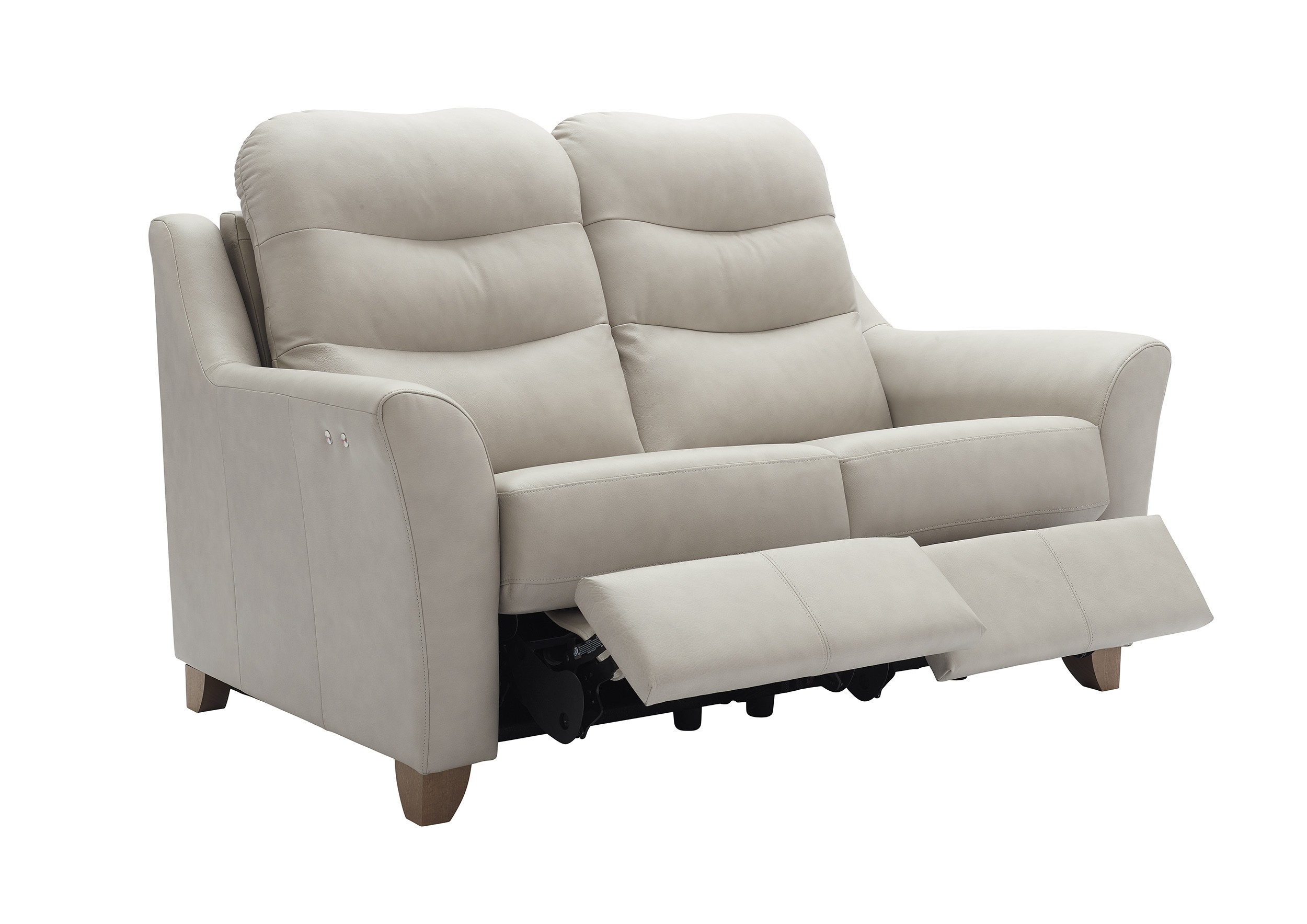 G Plan Tate Leather 2 Seater Electric Double Recliner Sofa | Tr In Tate Ii Sofa Chairs (Image 7 of 20)