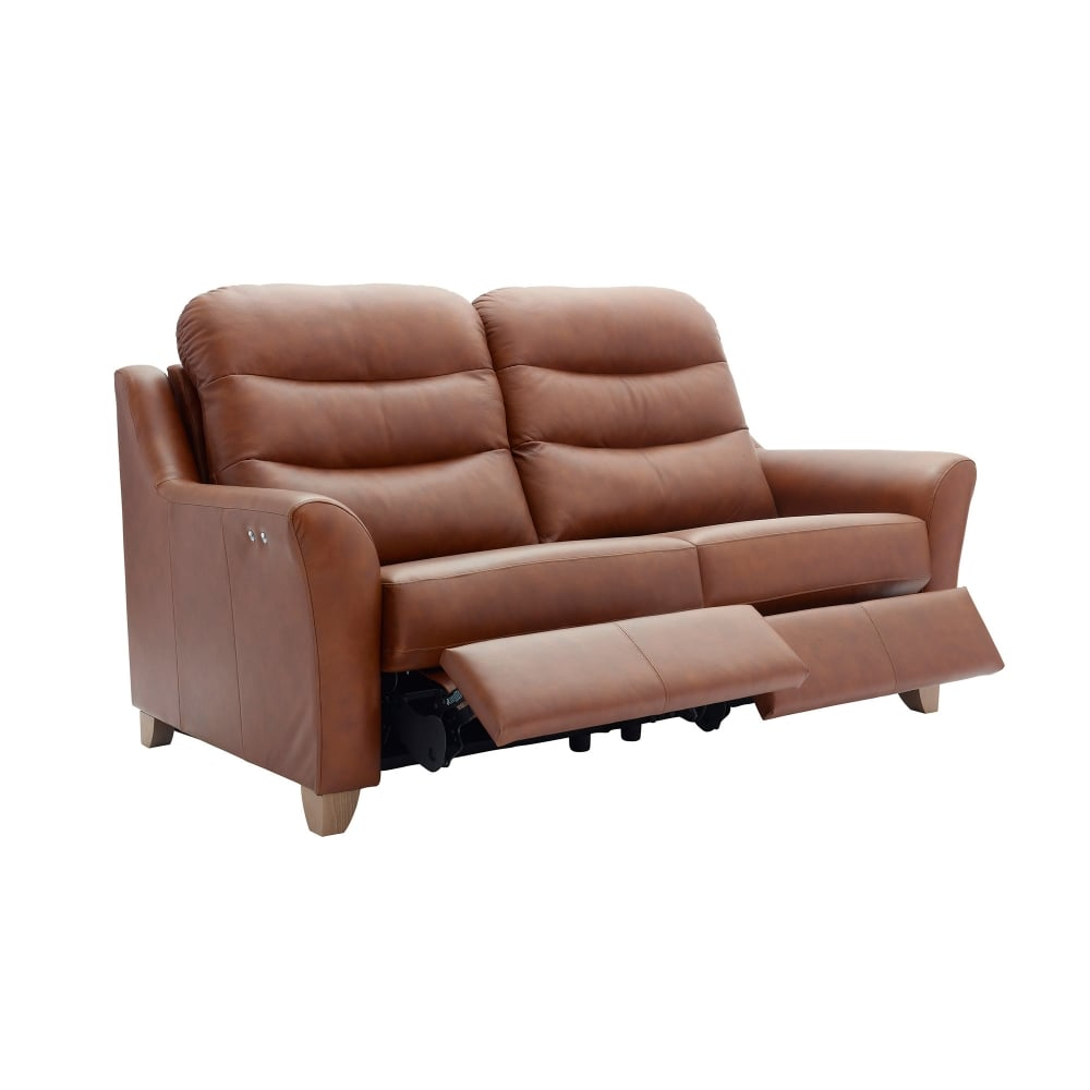 G Plan Tate Leather 3 Seater Recliner Sofa – 2 Cushions Inside Tate Ii Sofa Chairs (View 13 of 20)