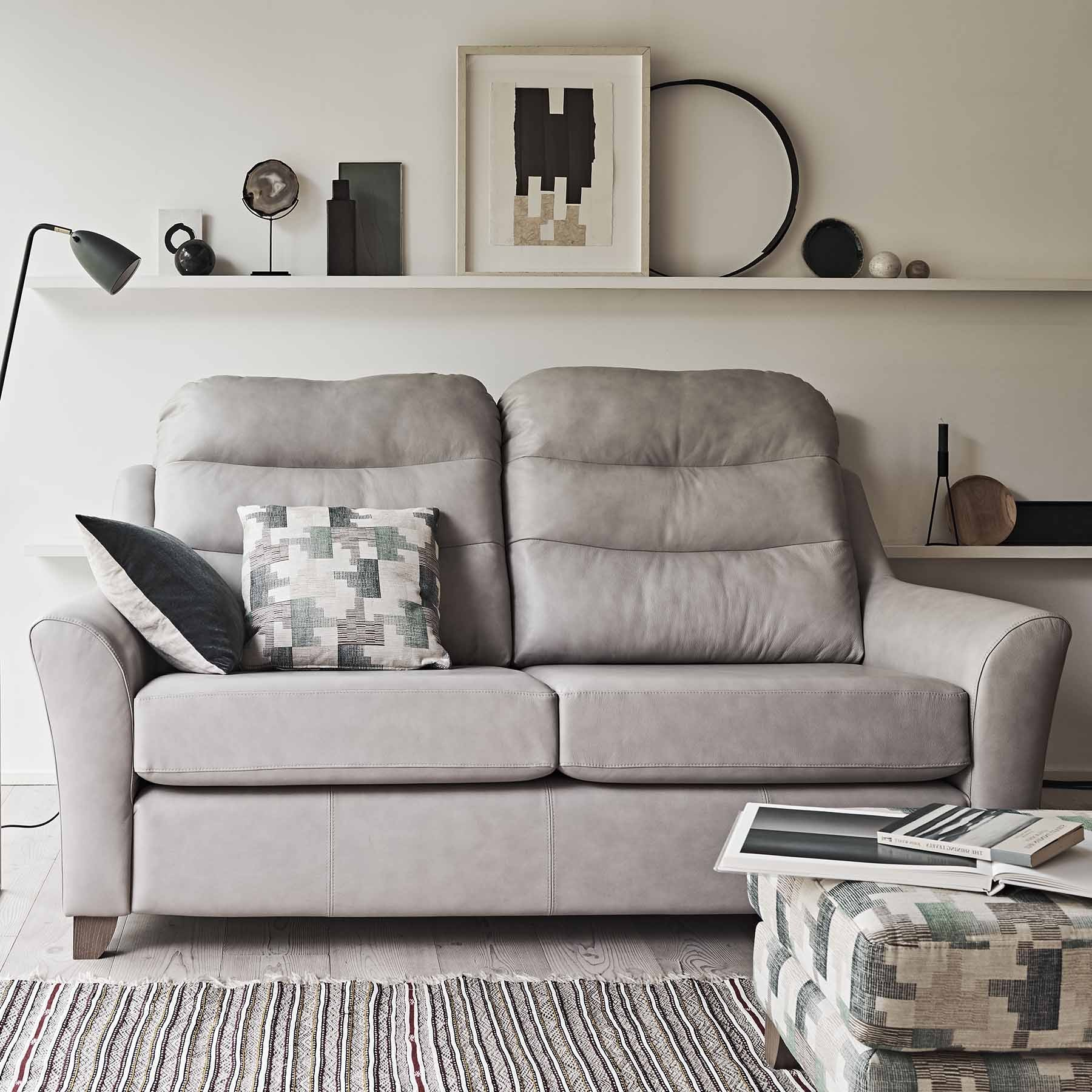 G Plan Tate Leather 3 Seater Sofa | Tr Hayes – Furniture Store, Bath With Regard To Tate Arm Sofa Chairs (Image 8 of 20)