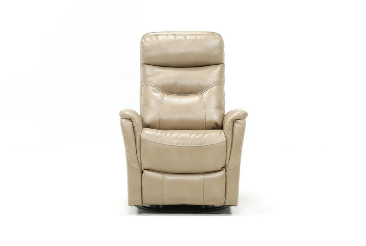 Gannon Linen Power Swivel Recliner W/built In Battery | Living Spaces Within Hercules Oyster Swivel Glider Recliners (Image 2 of 20)