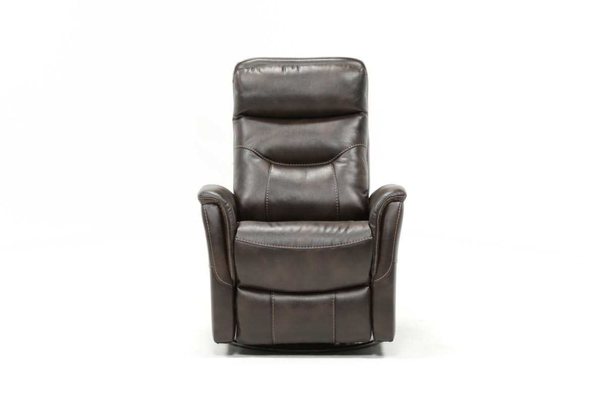 Gannon Truffle Power Swivel Recliner W/built In Battery In Gannon Linen Power Swivel Recliners (Image 12 of 20)