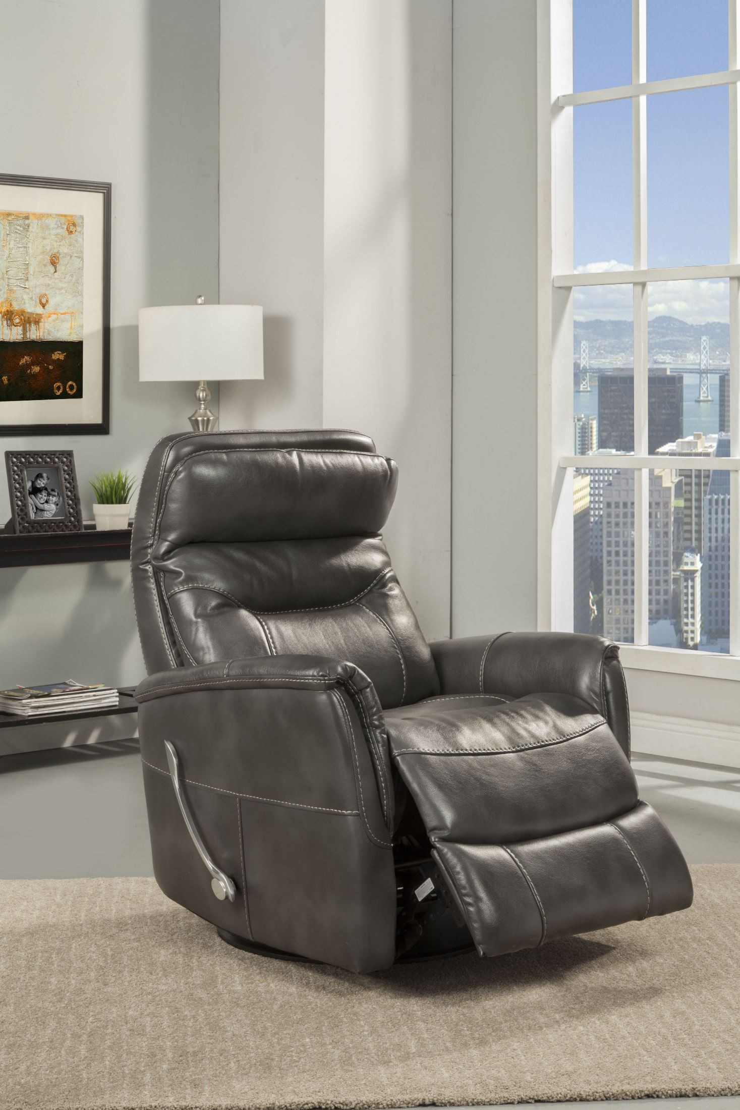 Gemini Flint Swivel Glider Recliner From Parker Living | Coleman For Hercules Oyster Swivel Glider Recliners (Image 3 of 20)