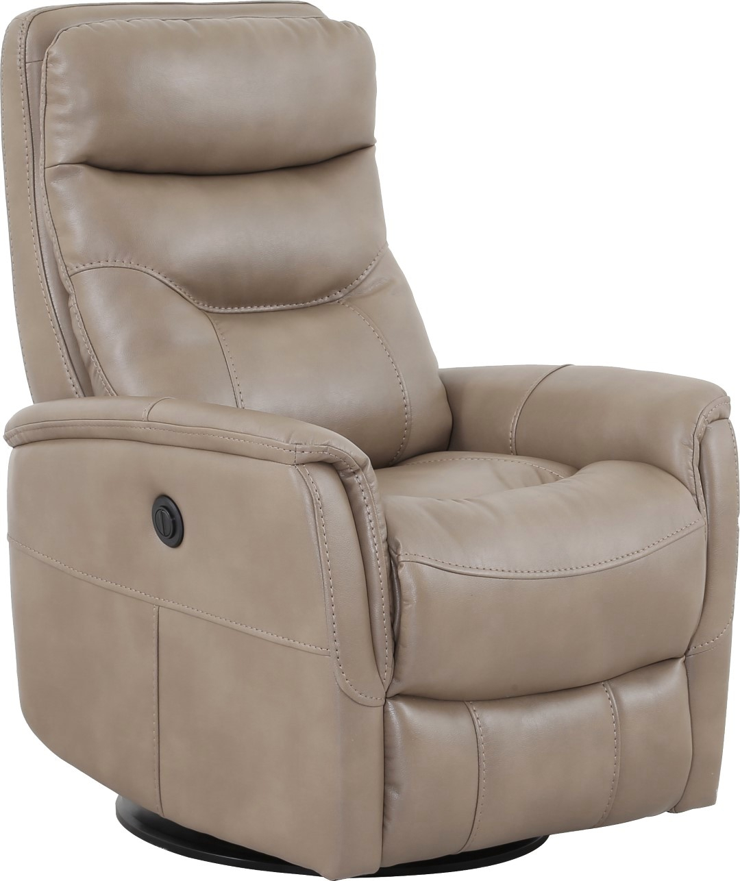 Gemini Linen Swivel Glider Power Recliner With Articulating Headrest Intended For Hercules Oyster Swivel Glider Recliners (Image 5 of 20)