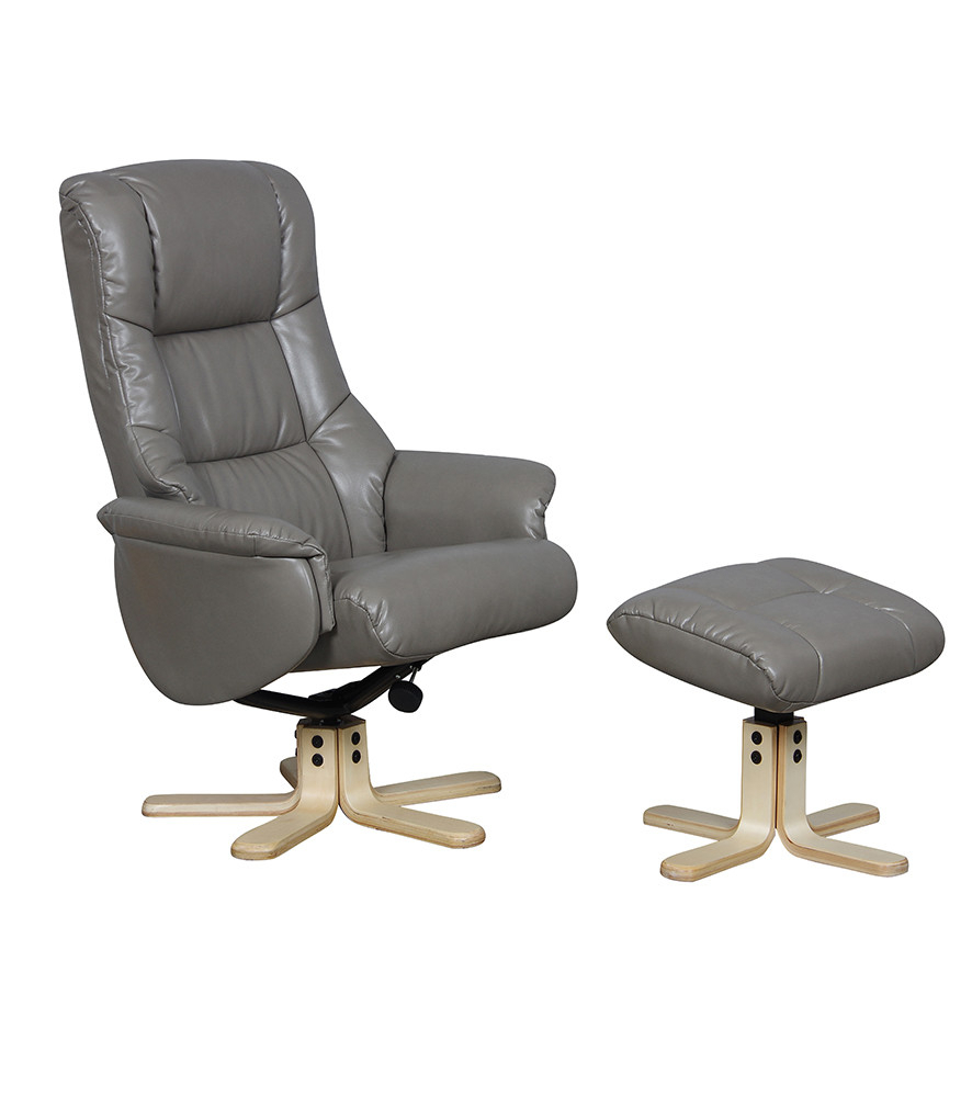 Gfa Swivel Recliner Chairs | Recliner Swivel Chair | Recliners Direct With Regard To Grey Swivel Chairs (Image 7 of 20)